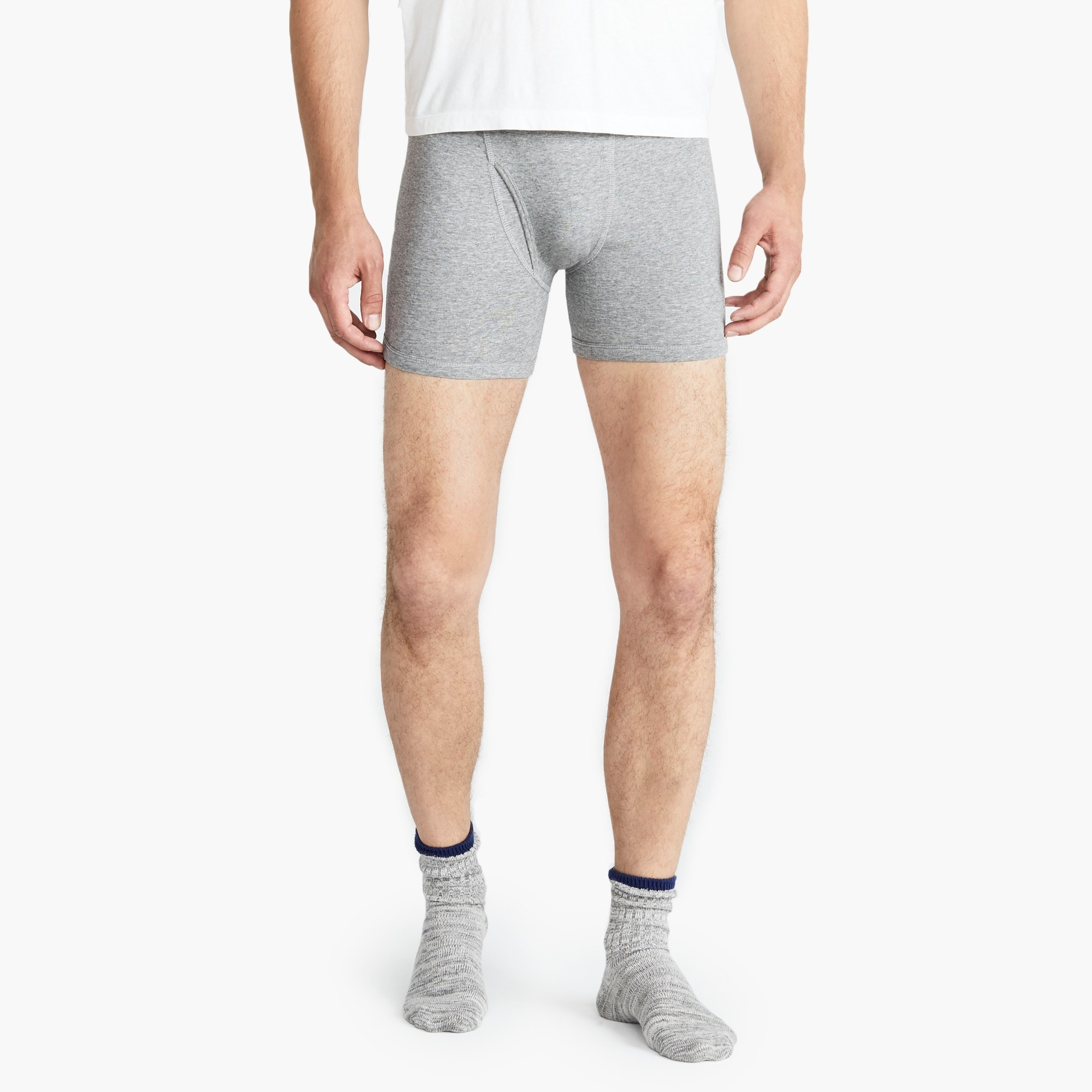 mens Stretch grey boxer briefs