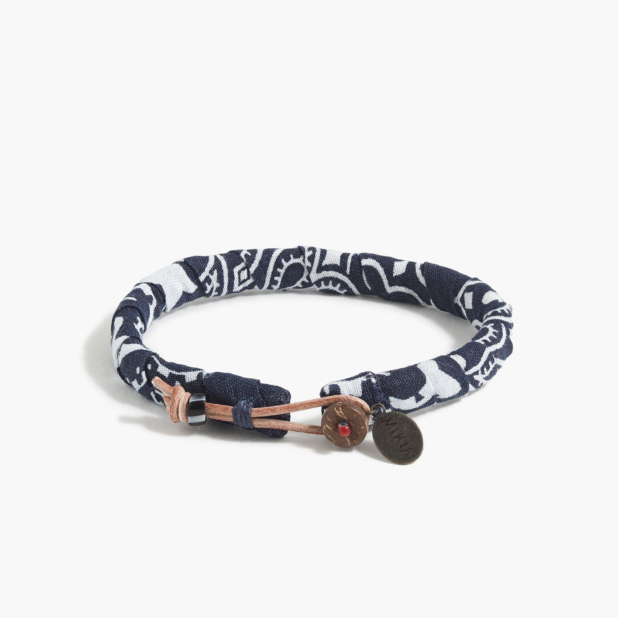 men's mikia™ bandana bracelet in navy - men's accessories