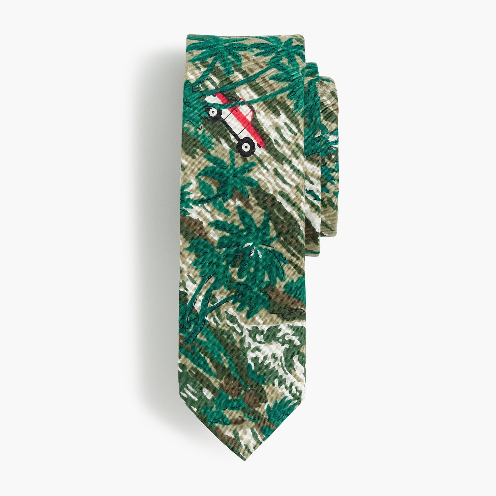 Boys' cotton tie in oasis print