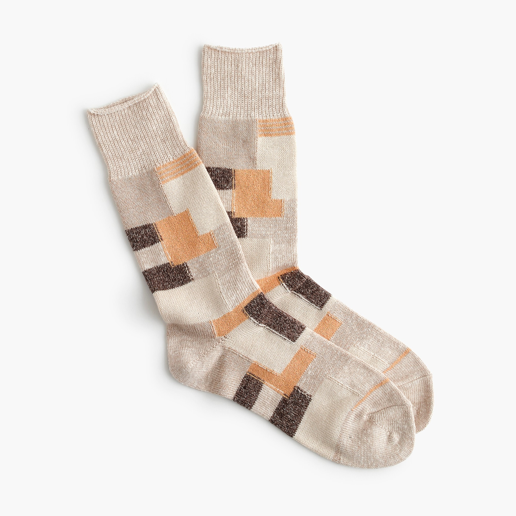 Anonymous Ism™ patchwork crew socks men j.crew in good company c