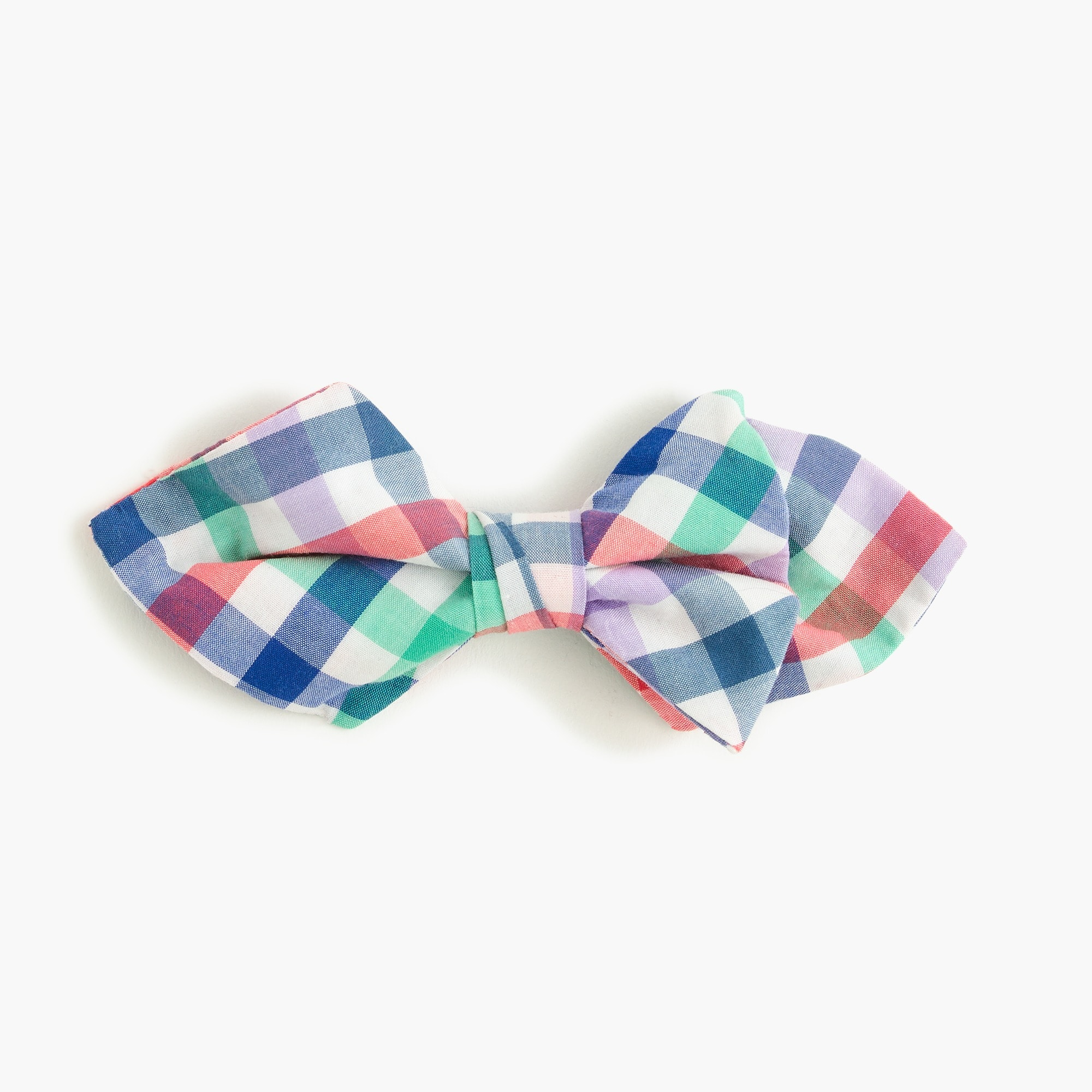 Boys' cotton bow tie in rainbow plaid boy accessories c