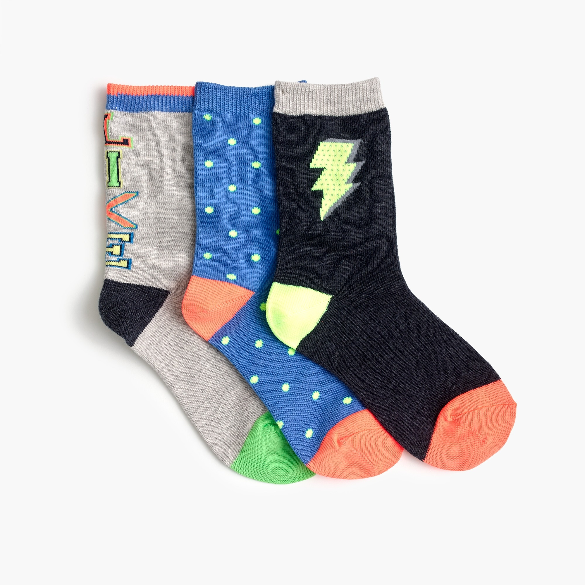 Boys' trouser socks three-pack in multi boy shoes & sneakers c