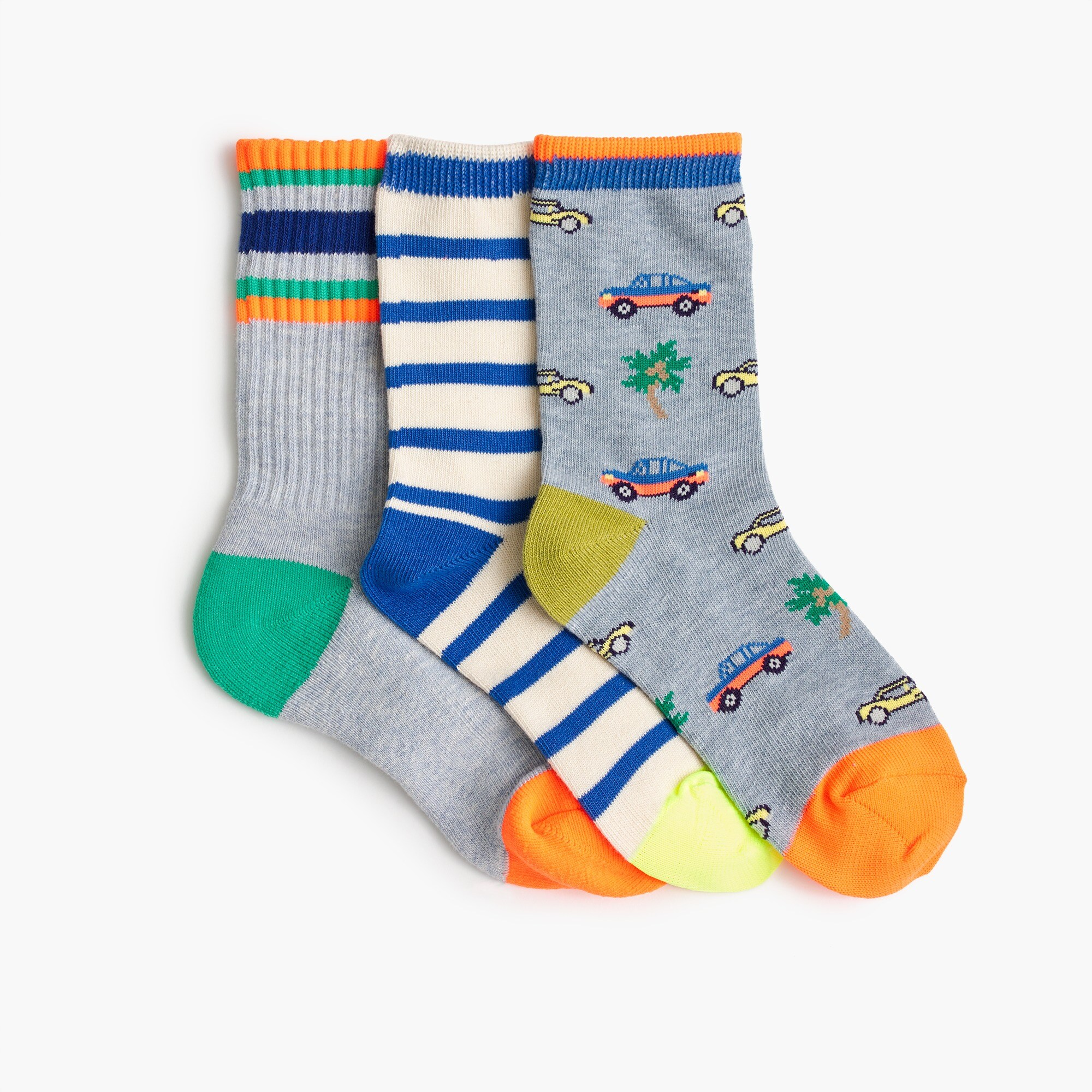 boys' trouser socks three-pack in multi - boys' accessories