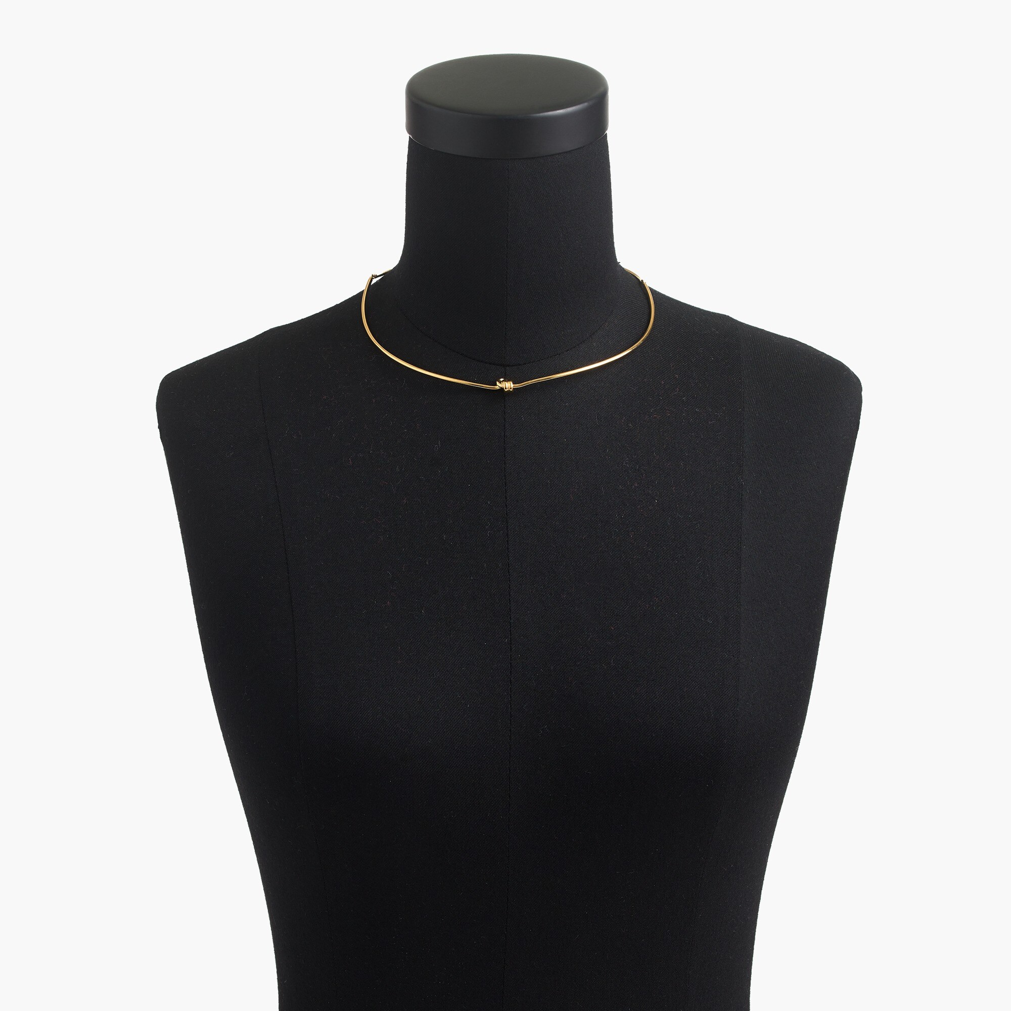Demi-fine 14k gold-plated knot collar necklace