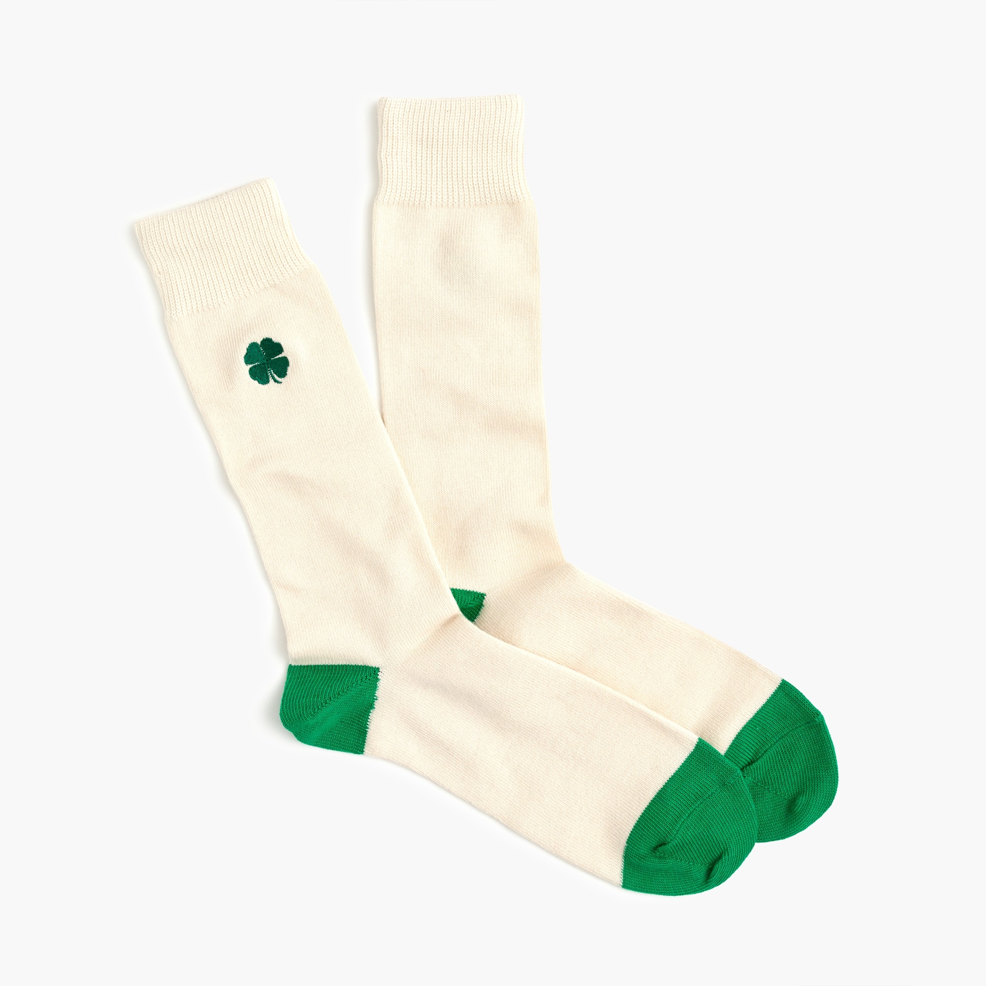 Embroidered shamrock socks men socks c