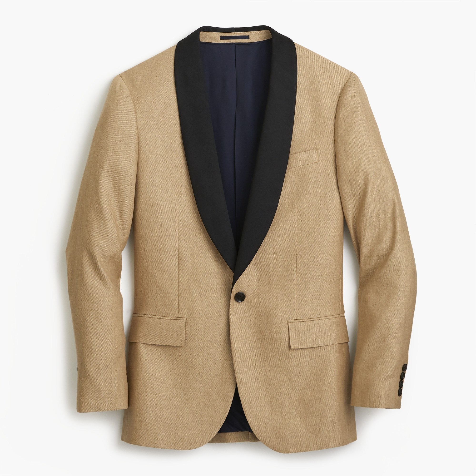 Ludlow Slim-fit shawl-collar tuxedo jacket in linen-silk