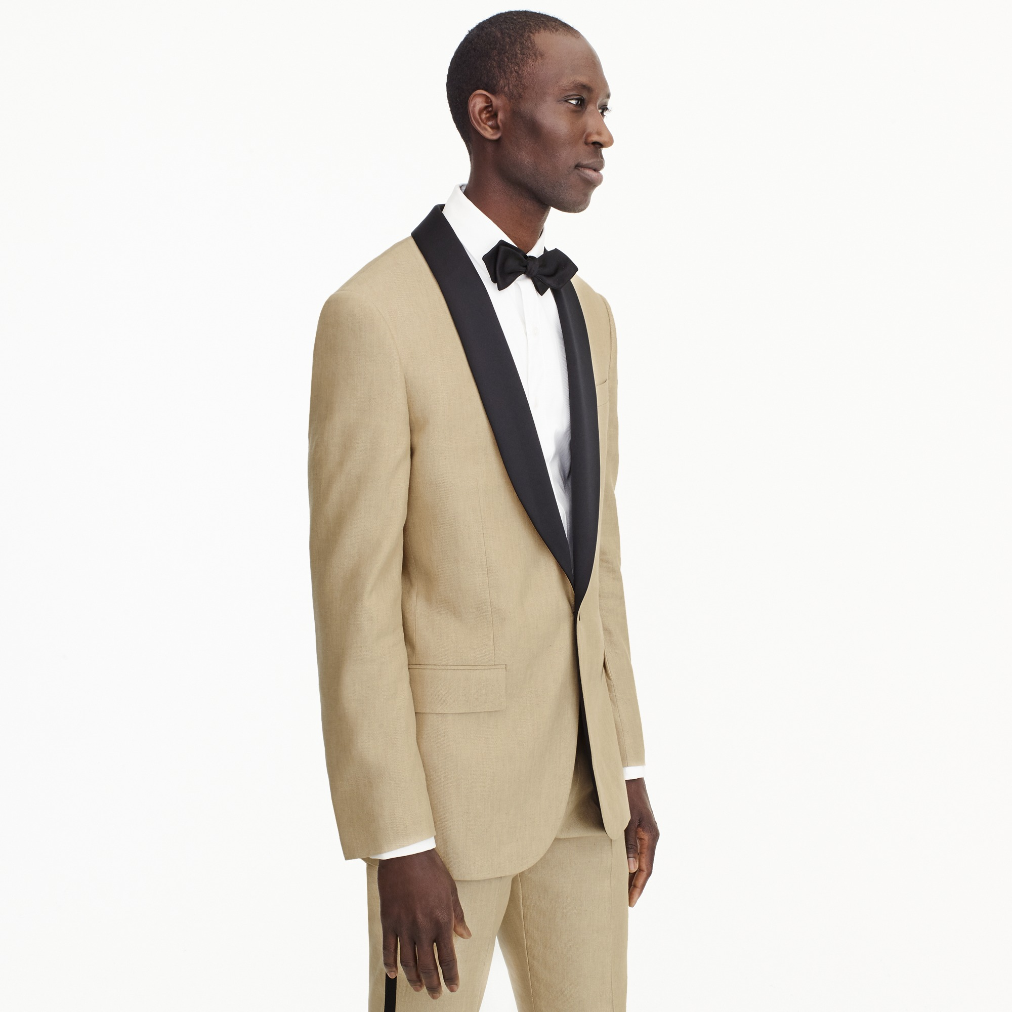 Image 2 for Ludlow Slim-fit shawl-collar tuxedo jacket in linen-silk