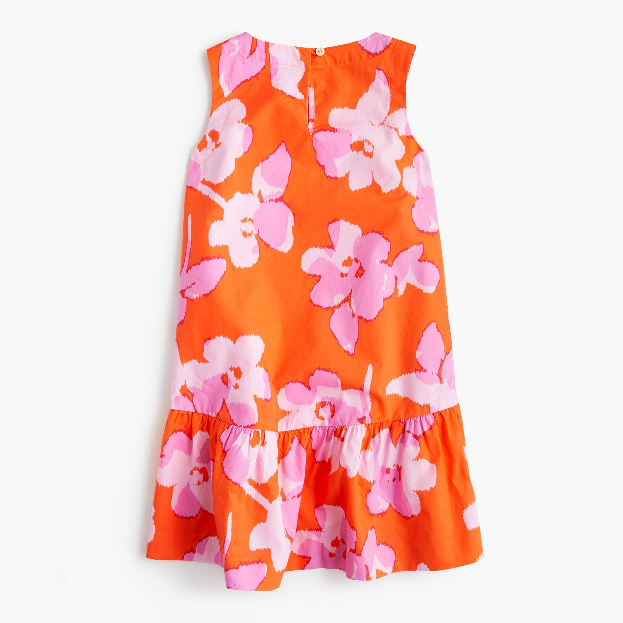 Girls' drop-waist dress in floral