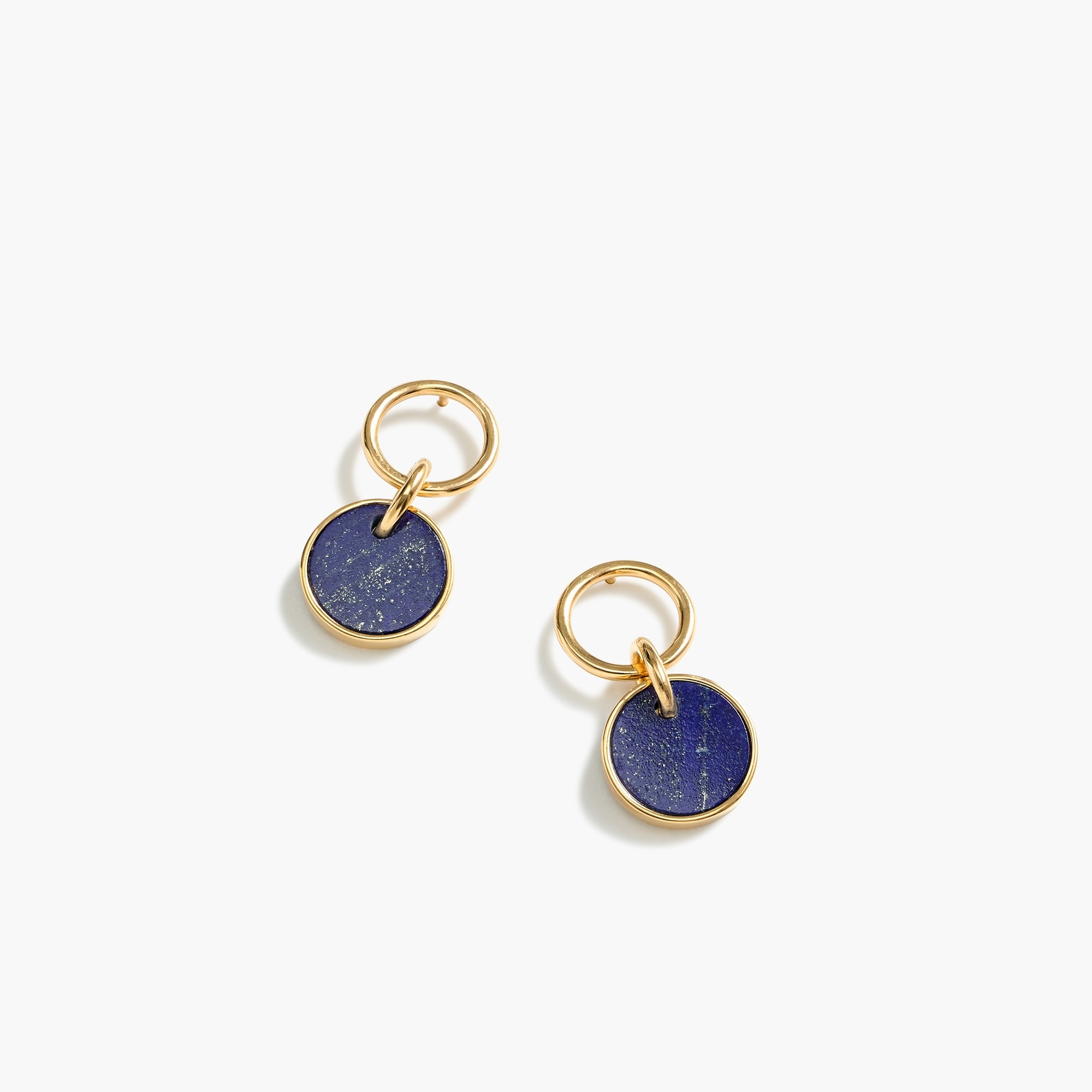 Demi-fine 14k gold-plated lapis earrings women jewelry c