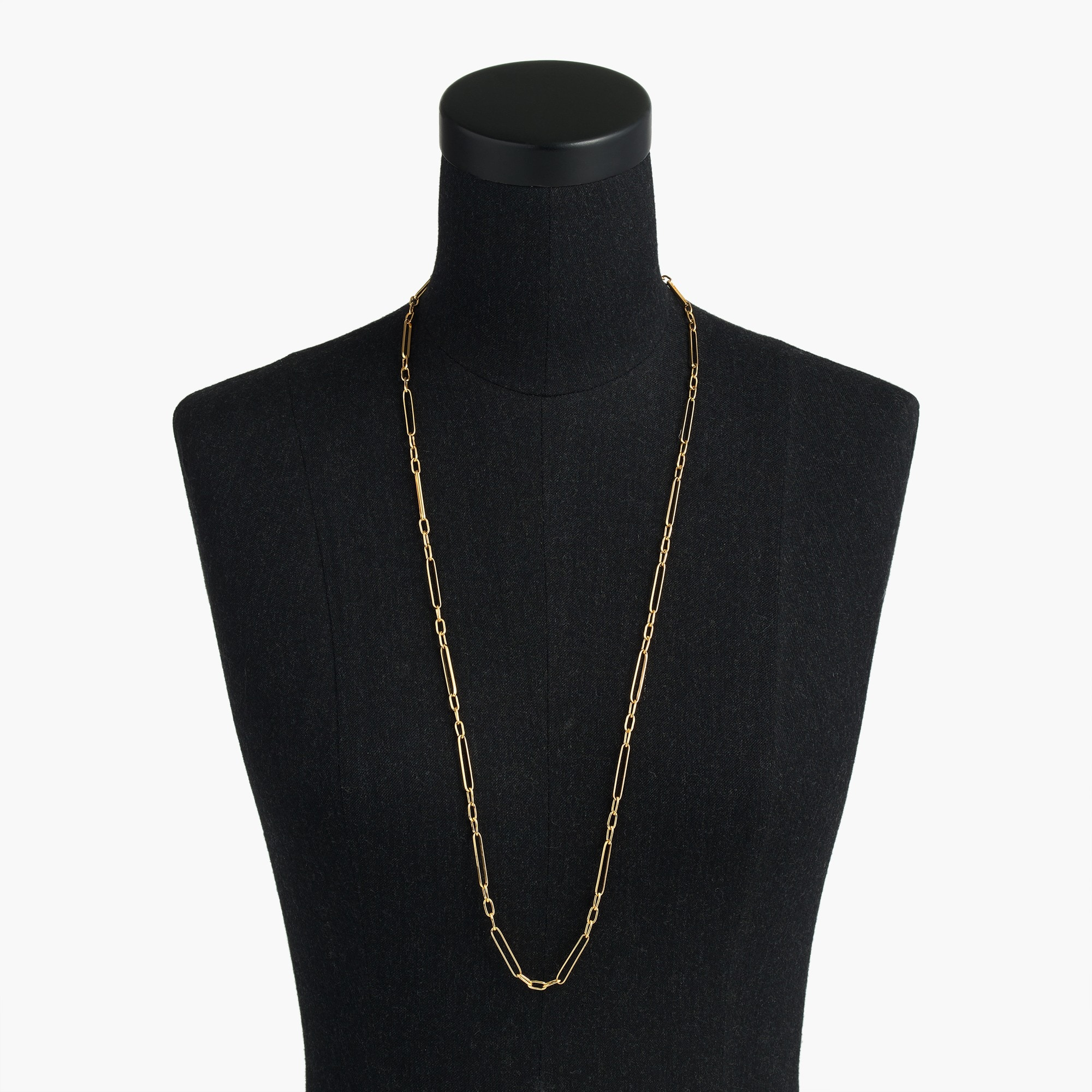 Image 1 for Demi-fine 14k gold-plated long multi-link necklace