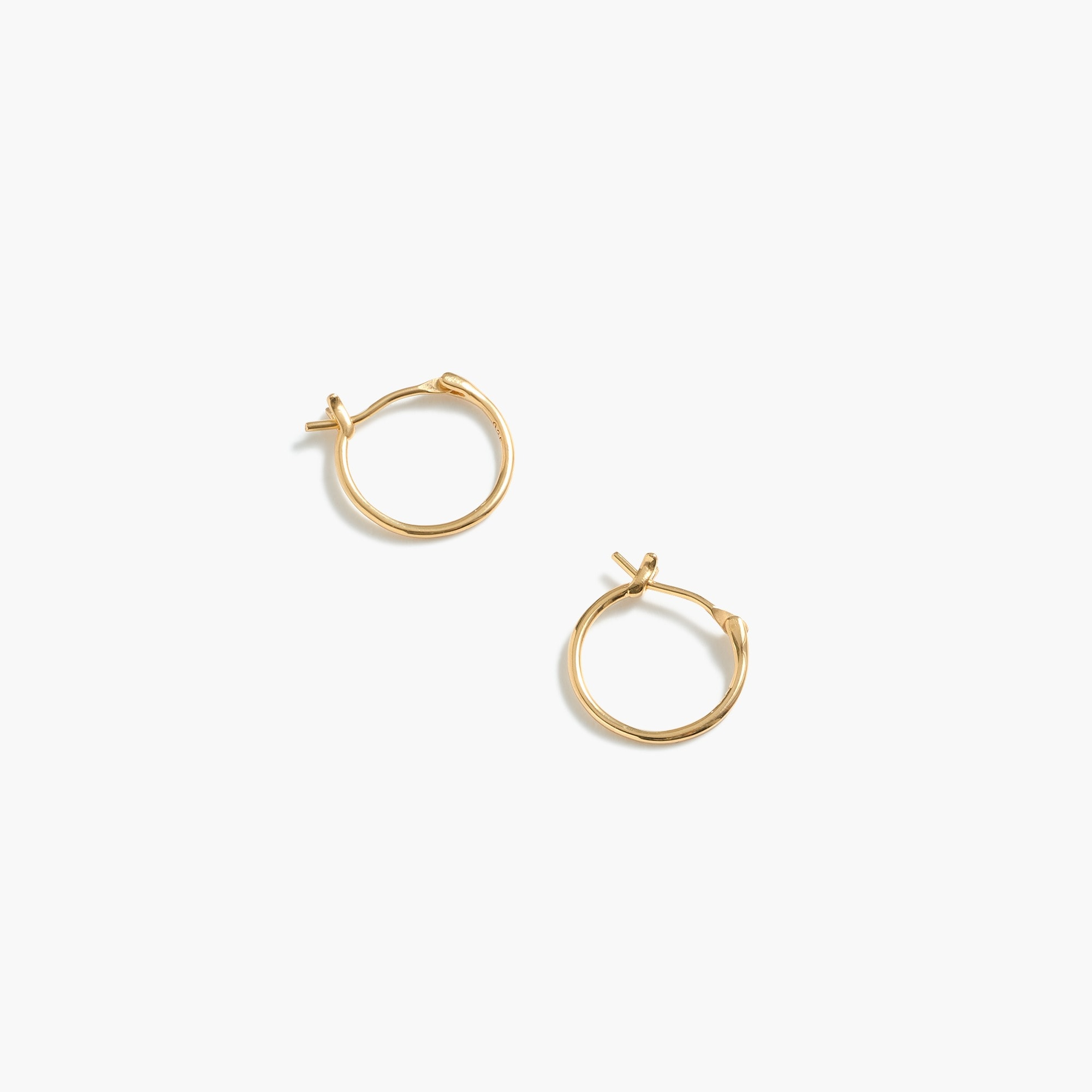 Demi-fine 14k gold-plated mini-hoop earrings women jewelry c