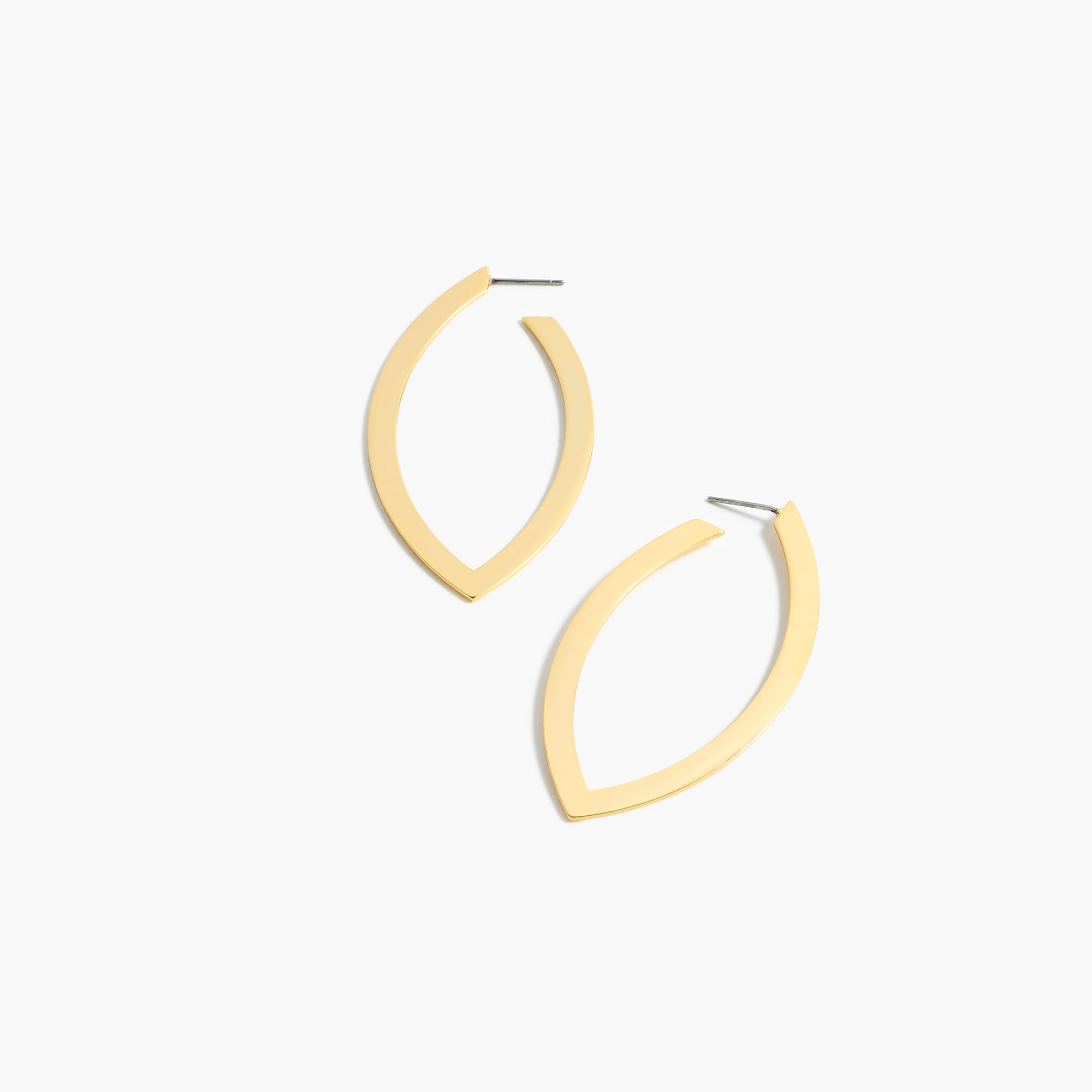 Image 1 for Leaf hoop earrings