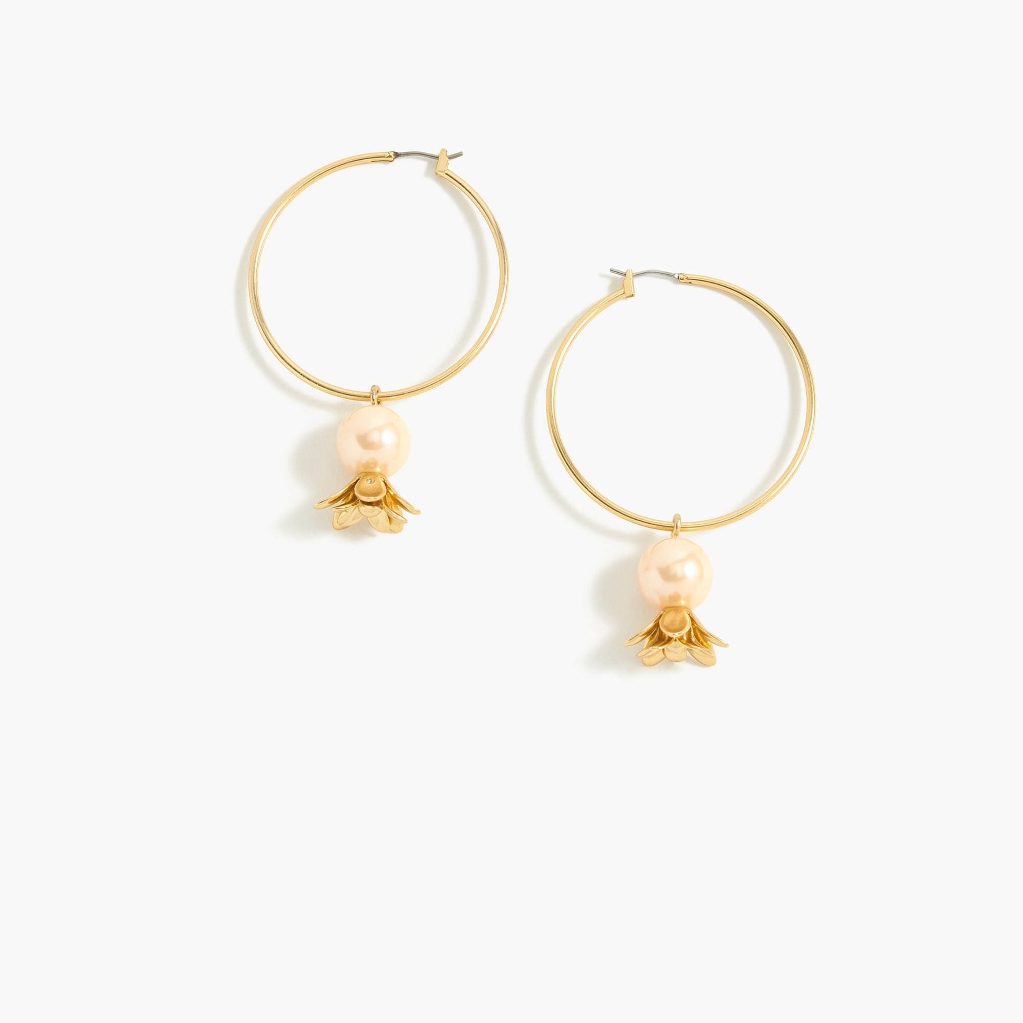 Blossom drop-hoop earrings women jewelry c