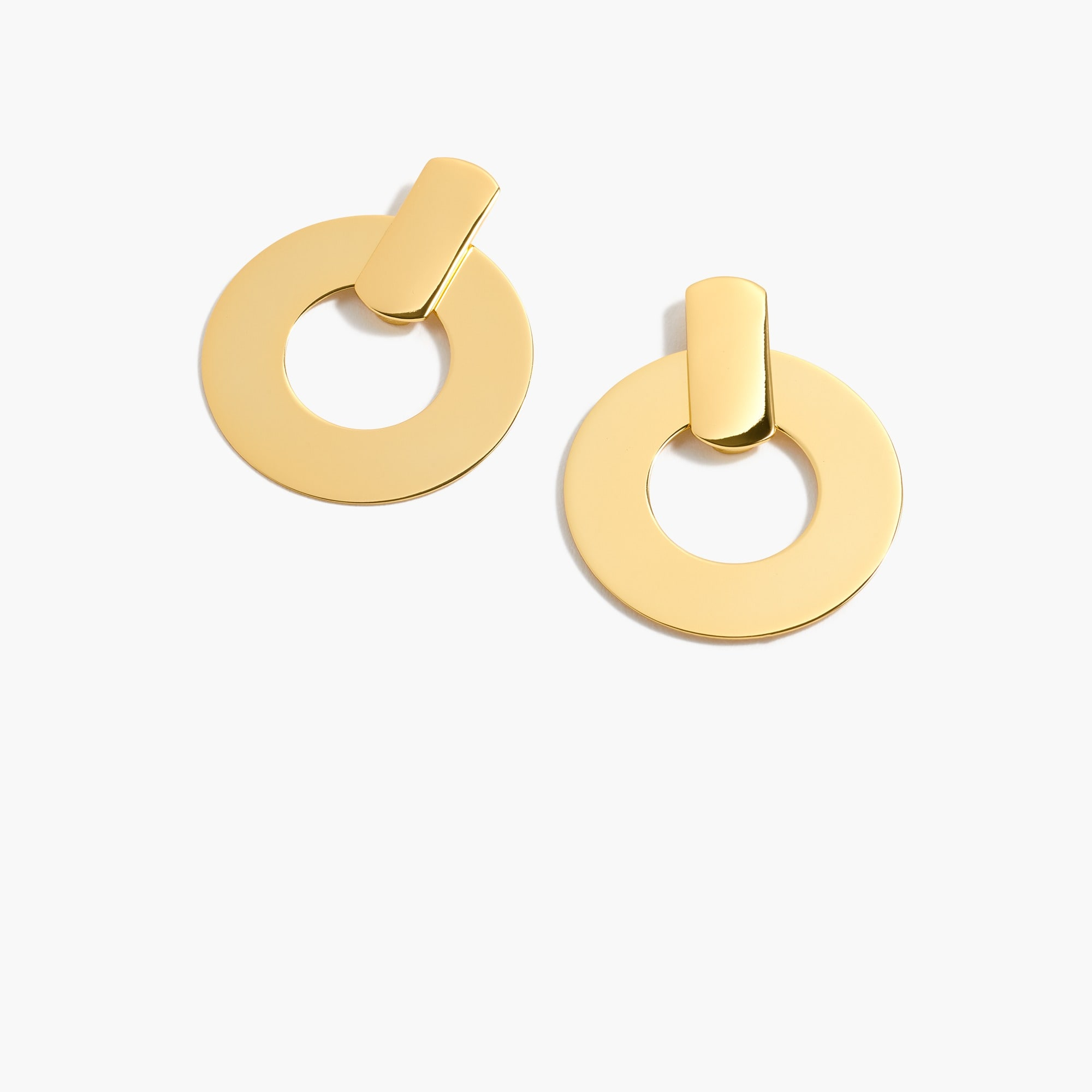 womens Flat drop-hoop earrings