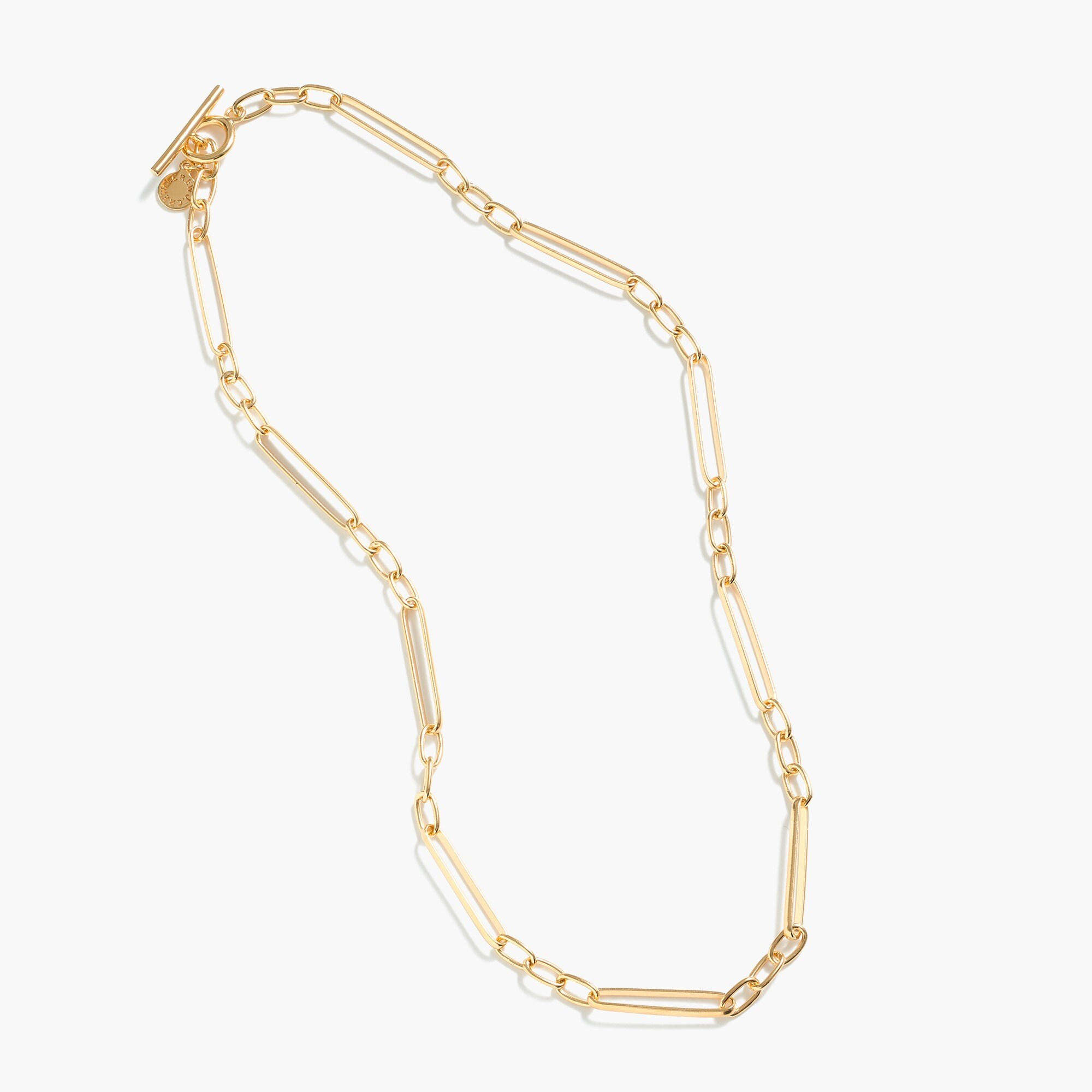 Image 2 for Demi-fine 14k gold-plated  short multi-link necklace