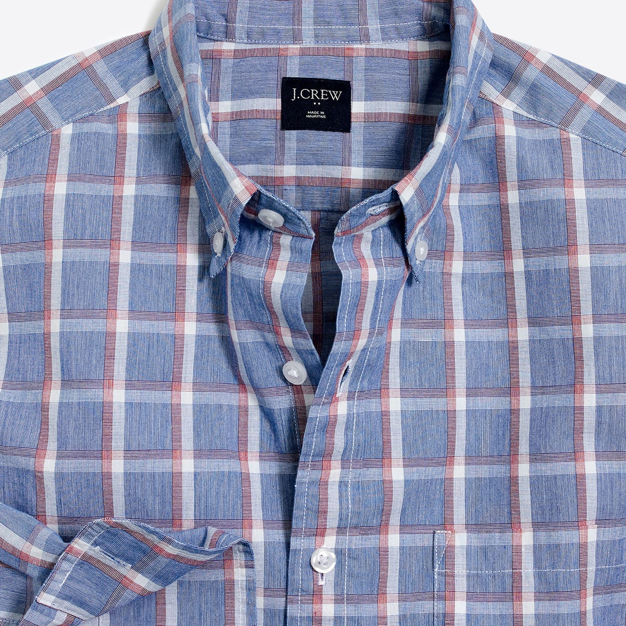 J.Crew Mercantile Washed shirt in tattersall men casual shirts c