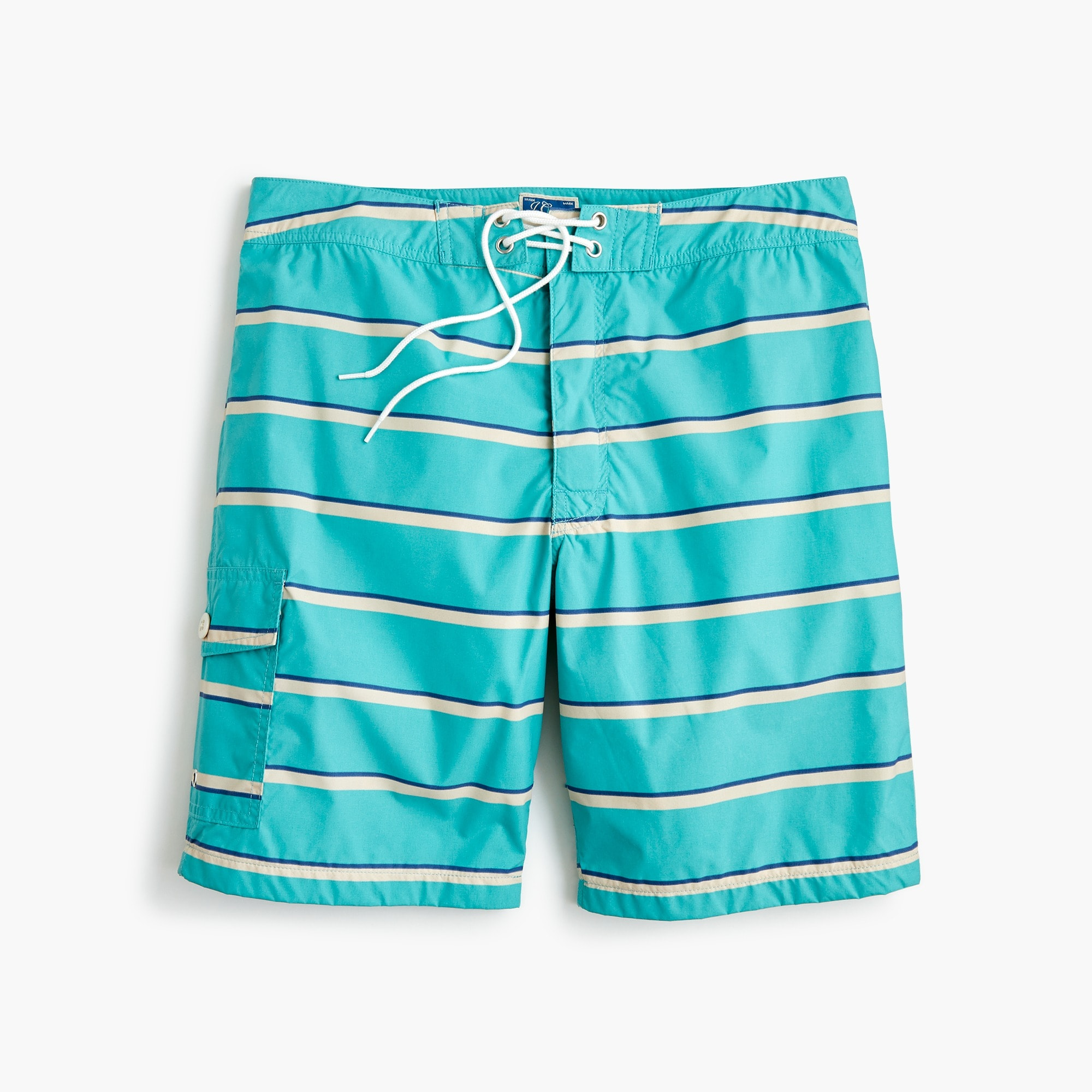 "mens 9"" board short in turquoise stripe"