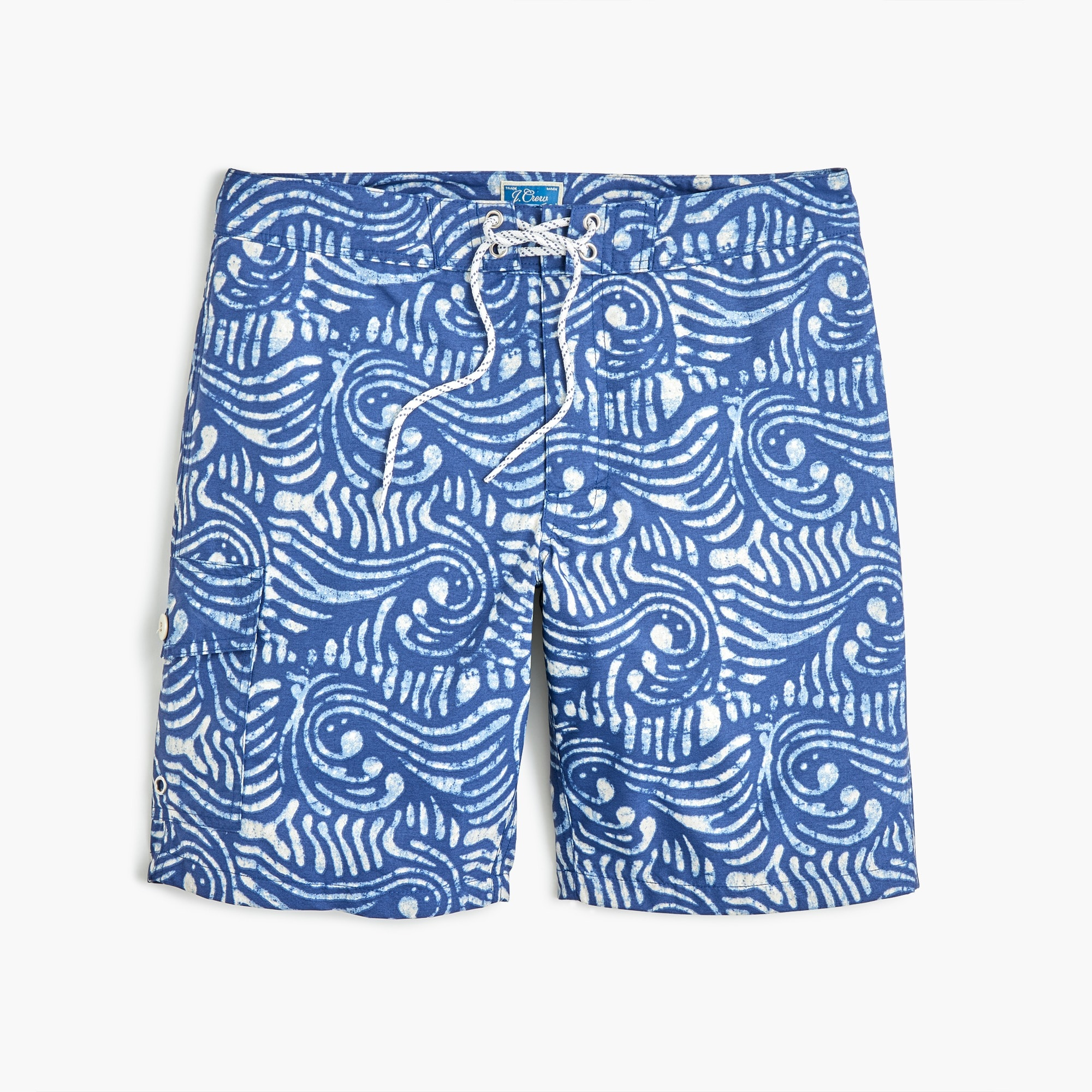 men's 9 board short in wave print - men's boardshorts