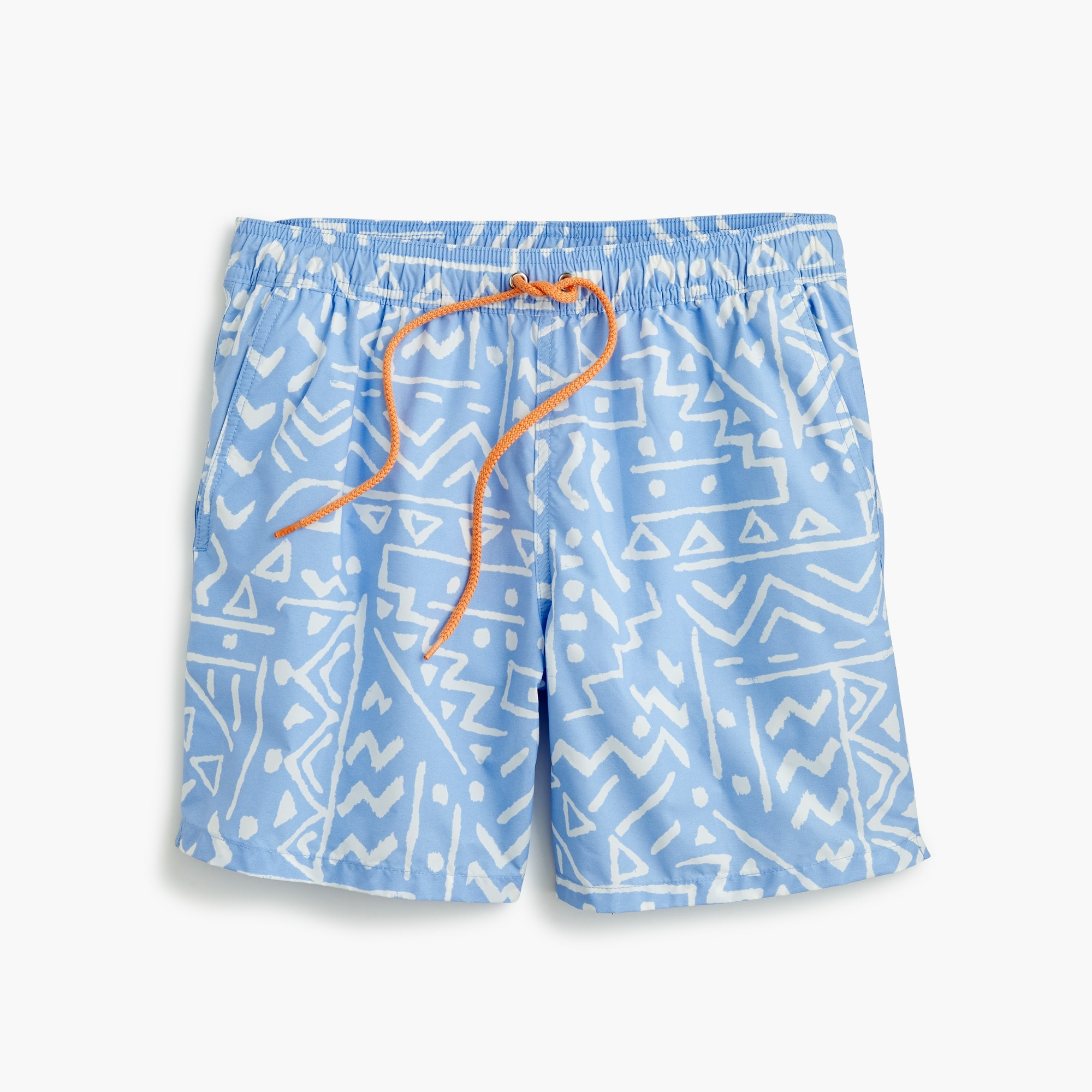 "mens 6"" swim trunk in sketch print"