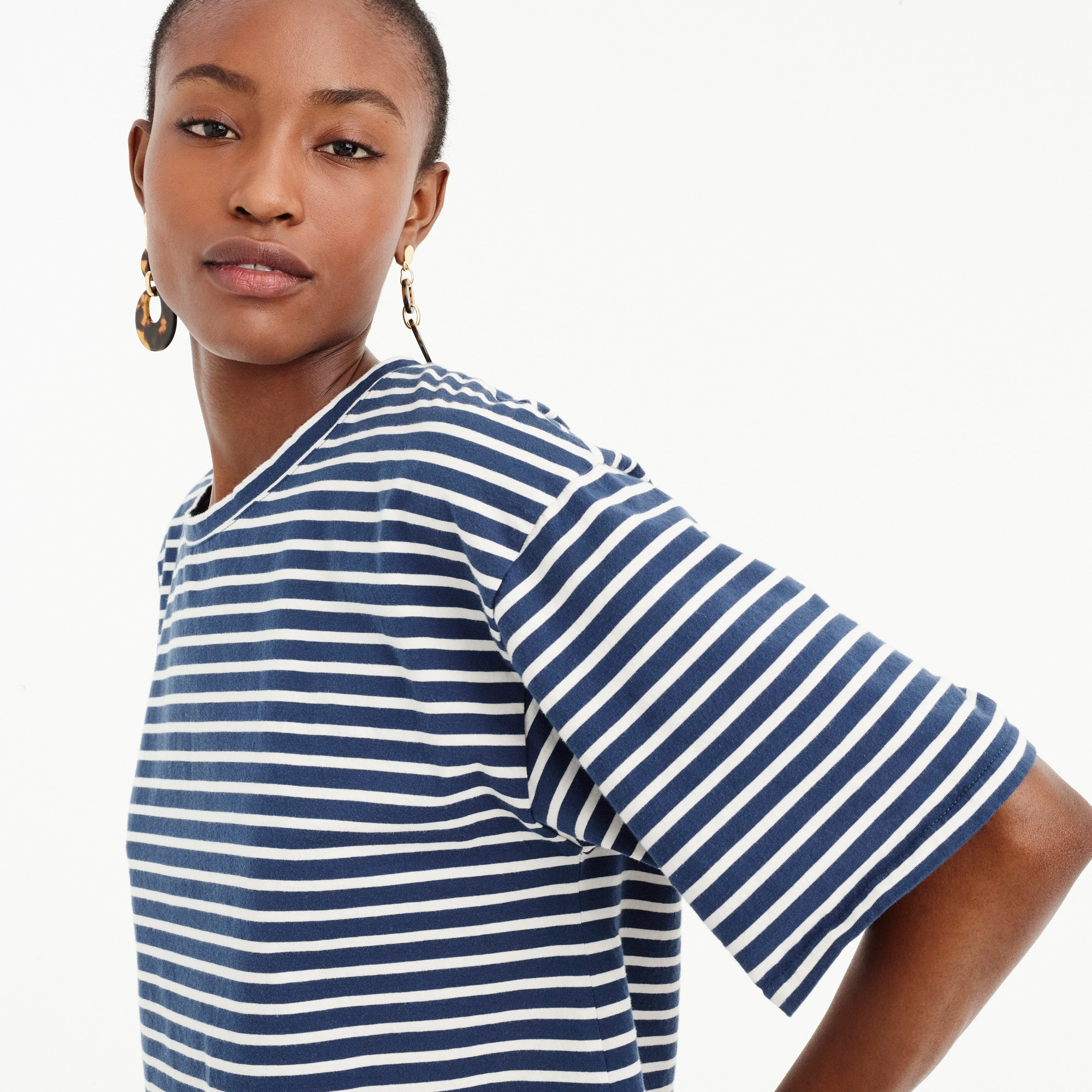 Boxy striped T-shirt women t-shirts & tank tops c