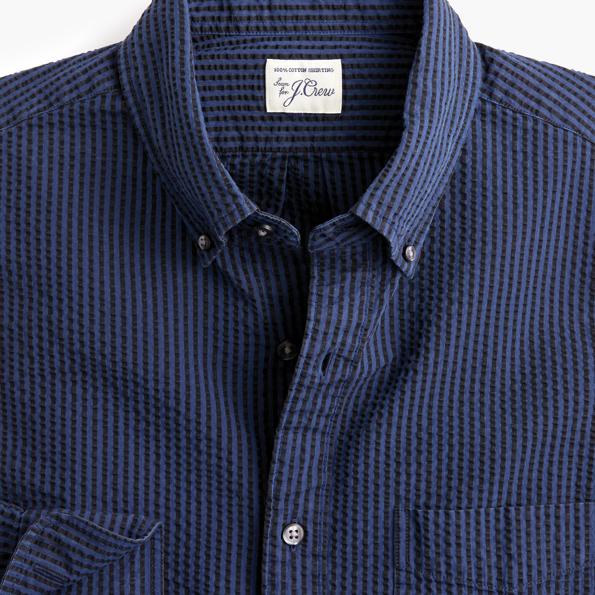Seersucker shirt in stripe men casual shirts c
