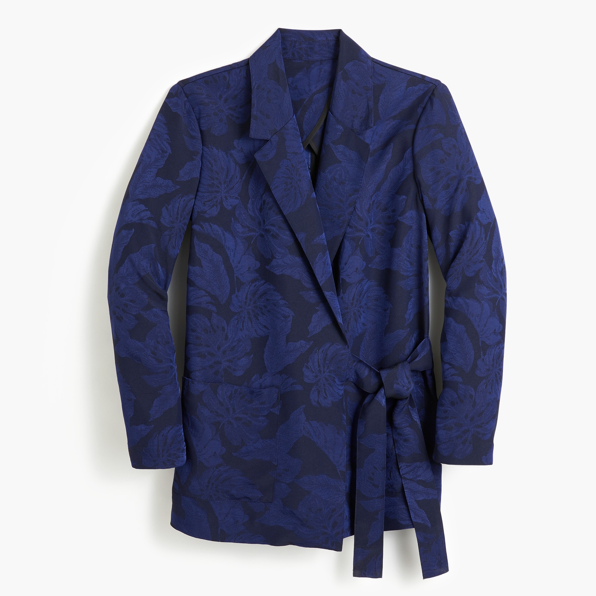 Image 1 for Collection tie-close jacquard blazer