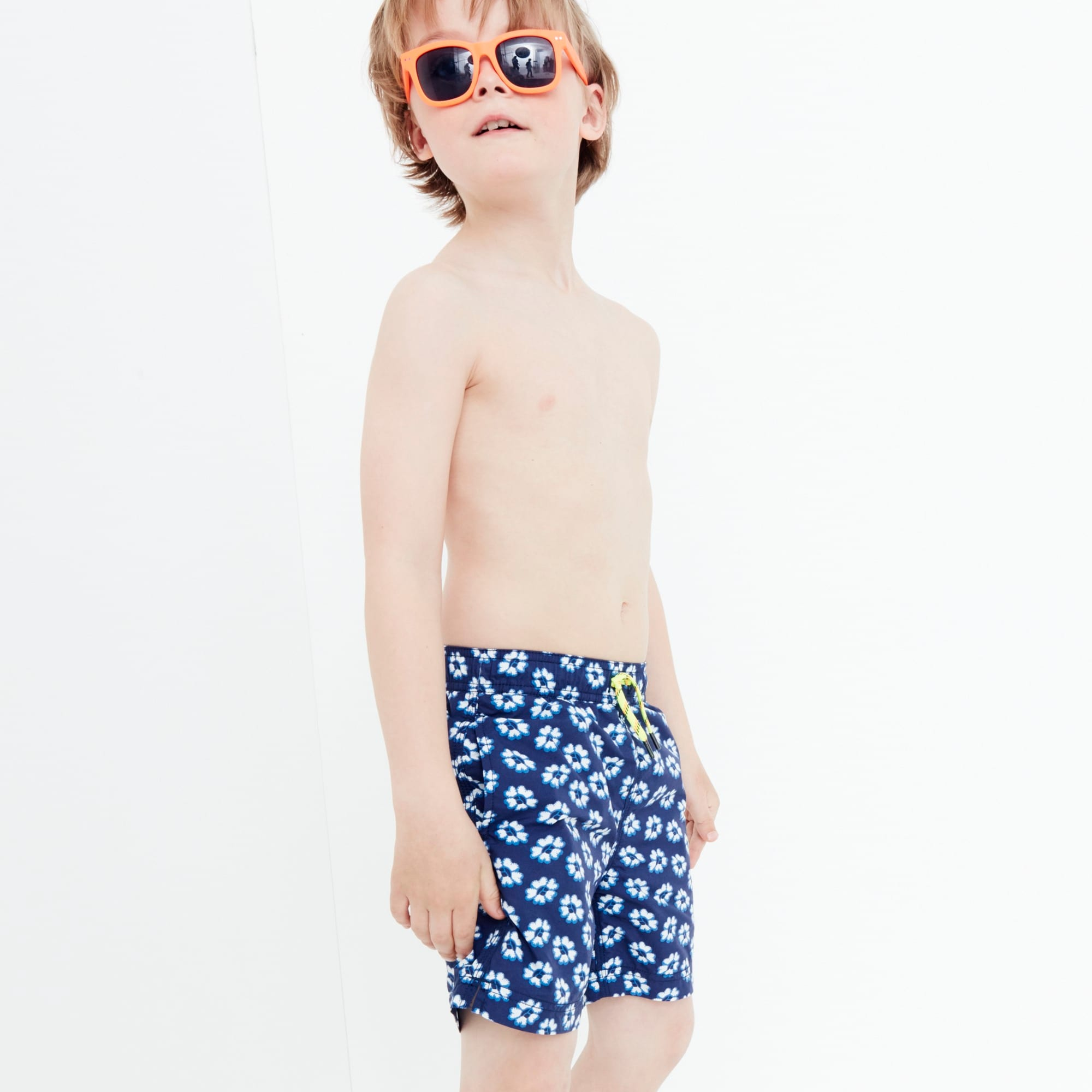 Boys' swim trunk in blurry flowers boy new arrivals c