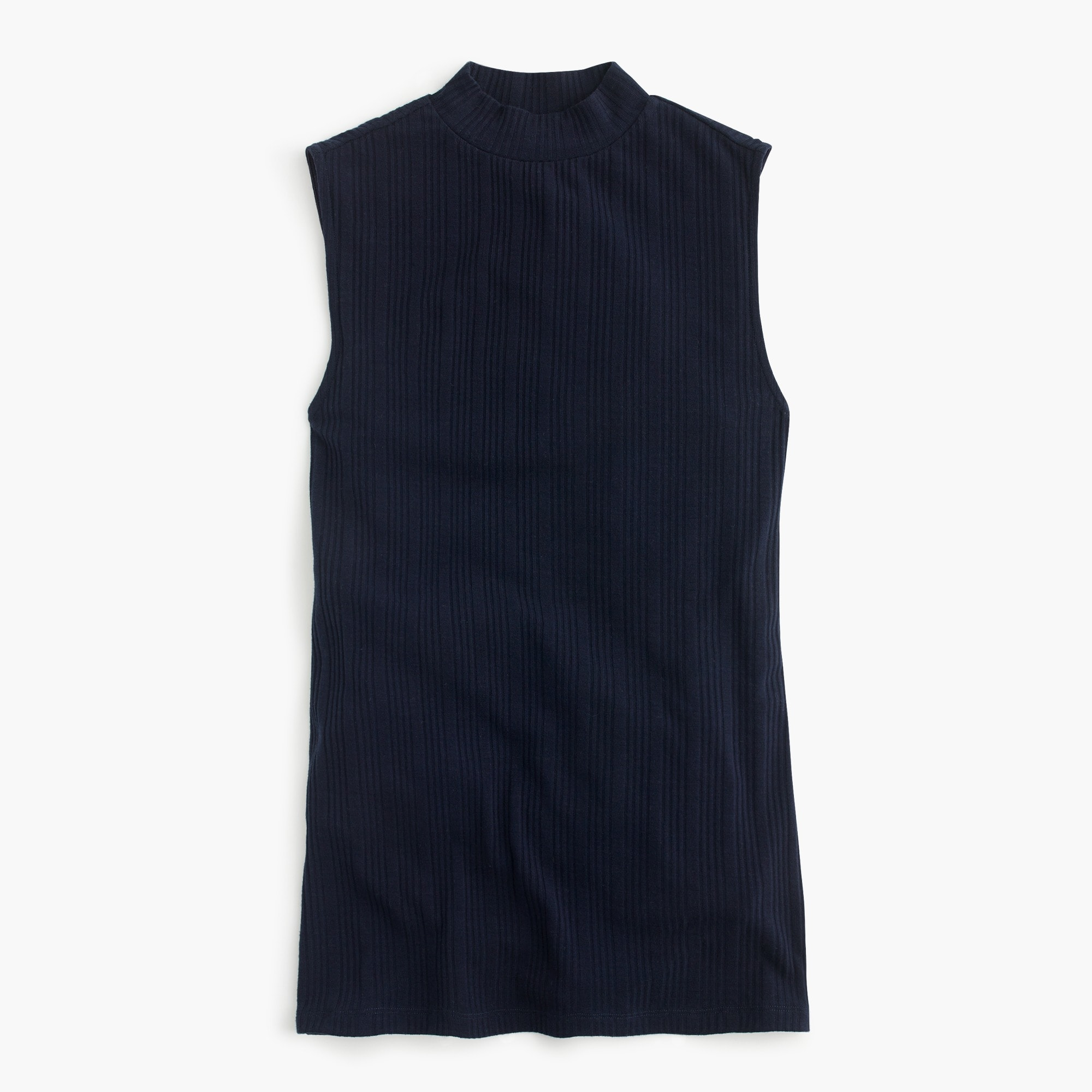 Ribbed mockneck tank top