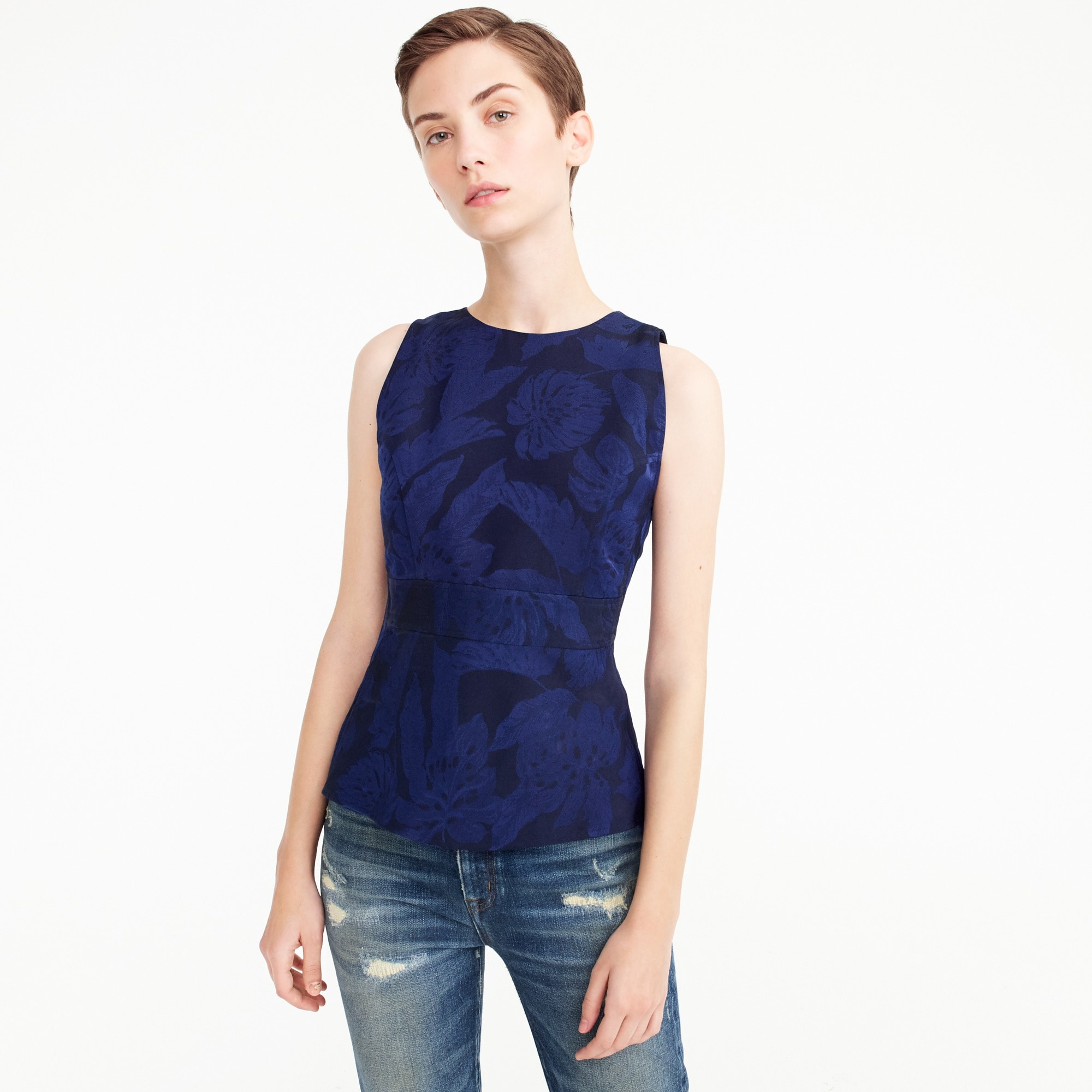 Collection floral jacquard top