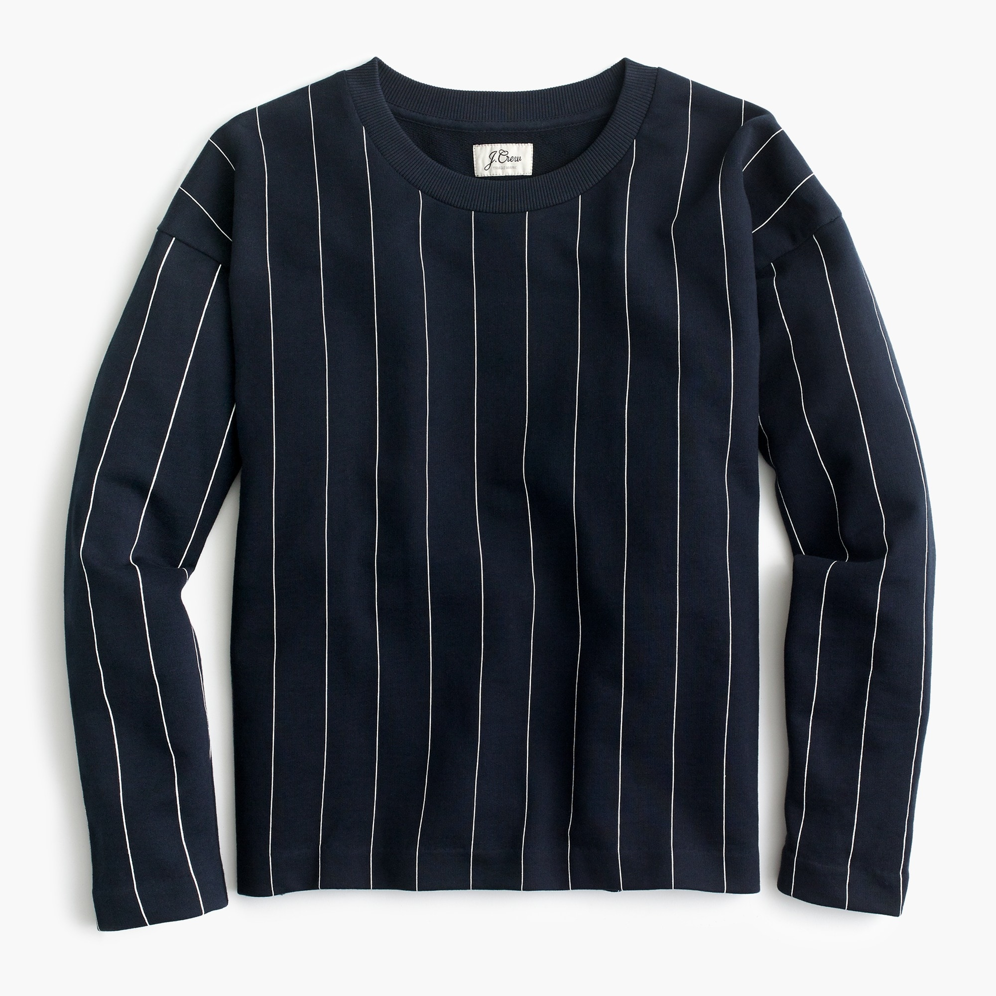 Image 2 for Crewneck sweatshirt in pinstripe
