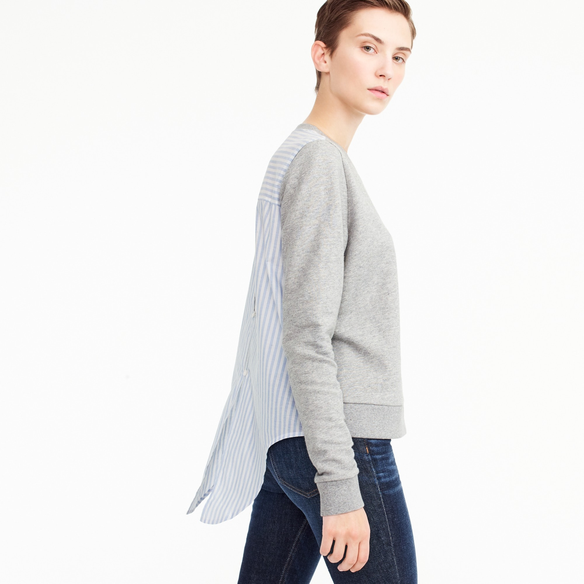 women's tie-back sweatshirt - women's knits