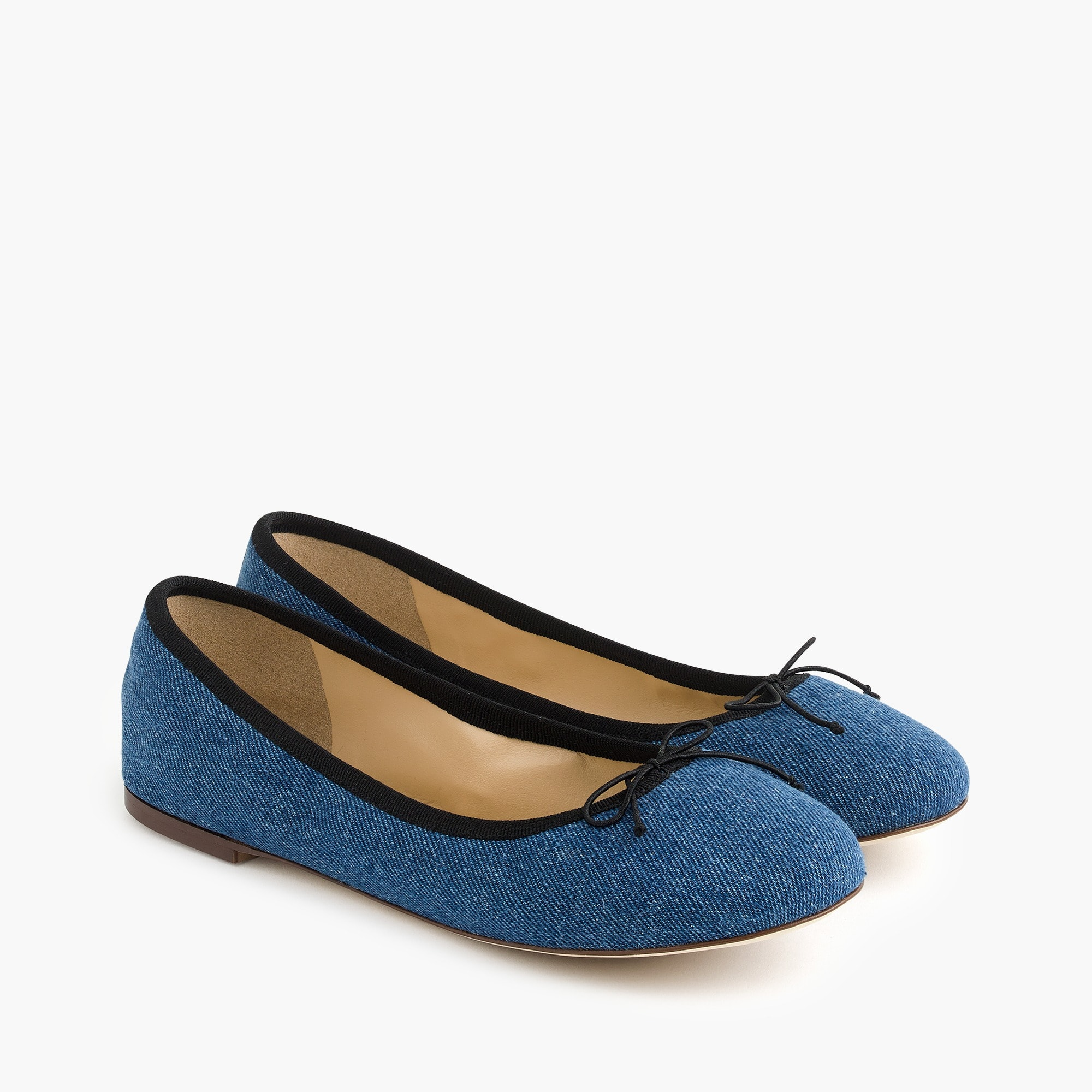 Image 1 for Evie ballet flats in denim