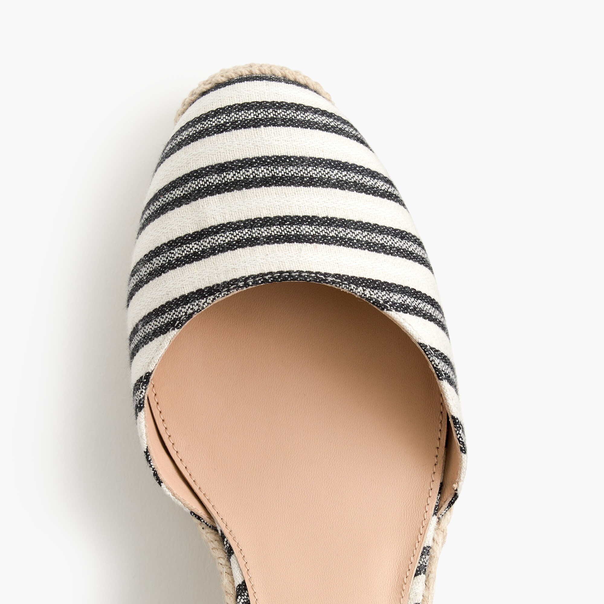 Espadrille wedges (83mm) with ankle wrap in stripe