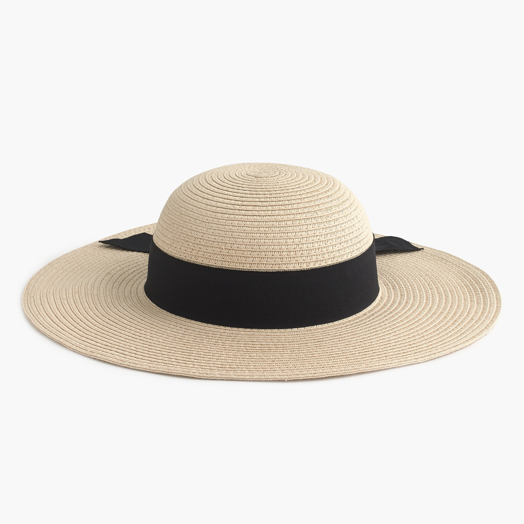 Girls' sun hat with ribbon bow