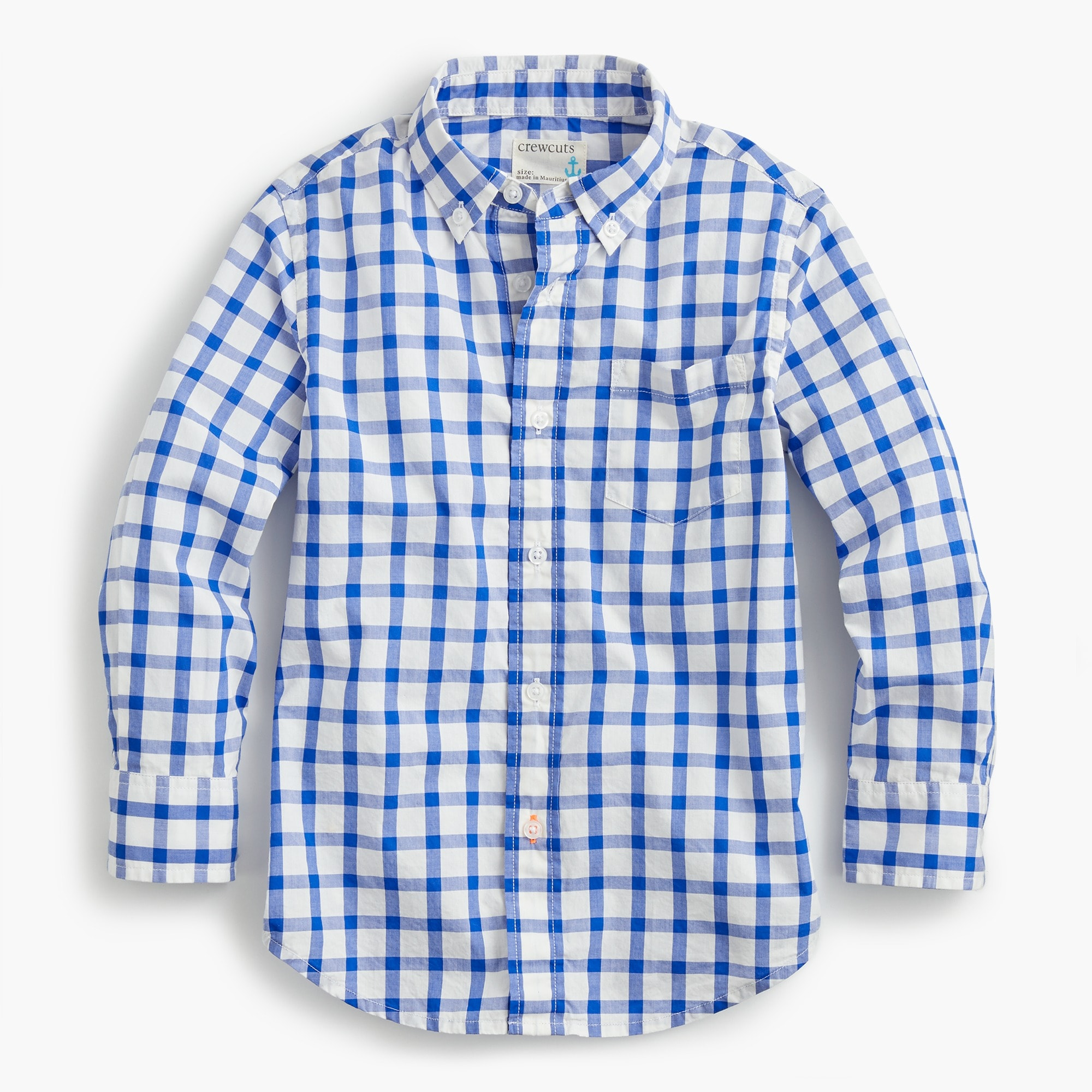 Boys' Secret Wash shirt in windowpane plaid boy new arrivals c