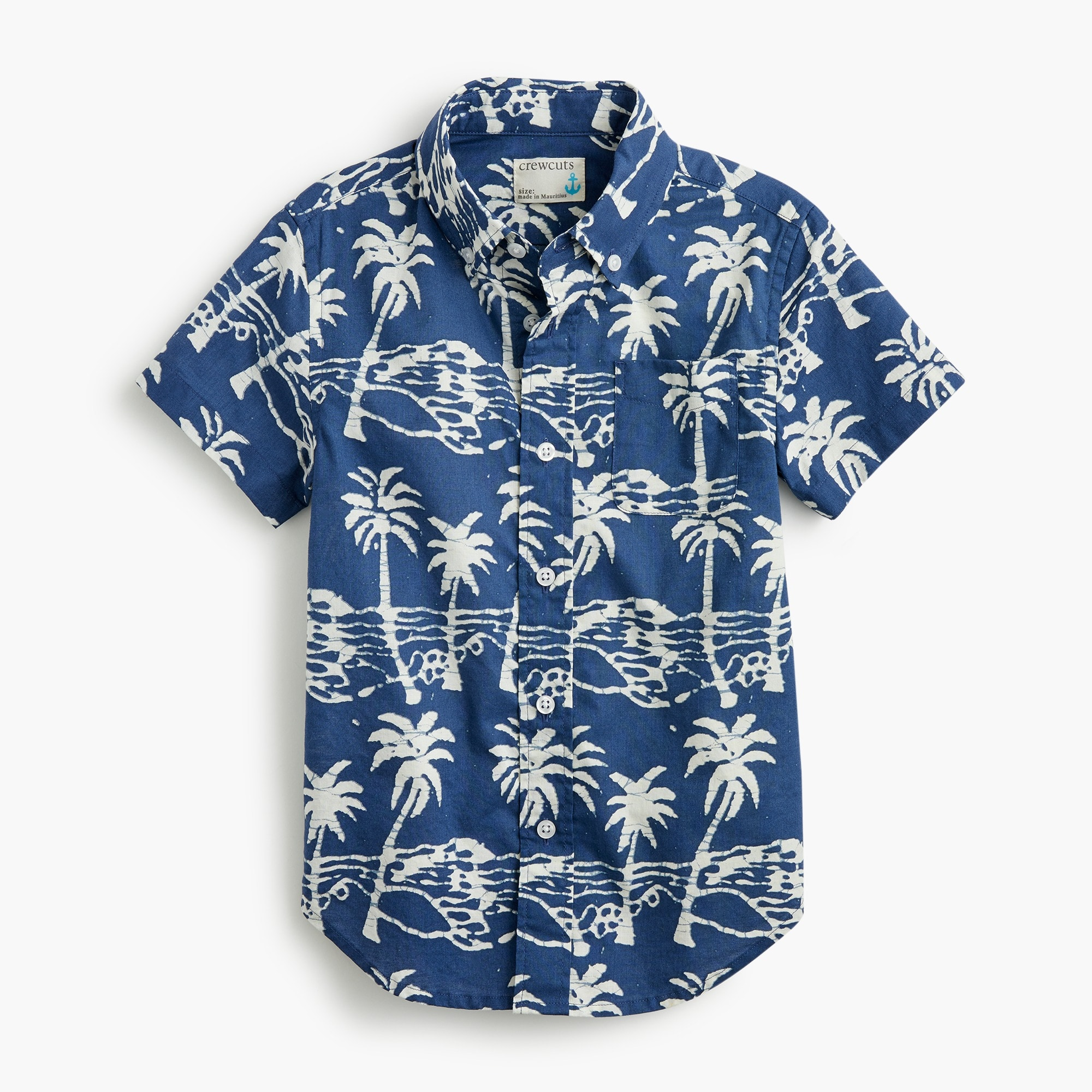 Boys' Secret Wash shirt in palm print