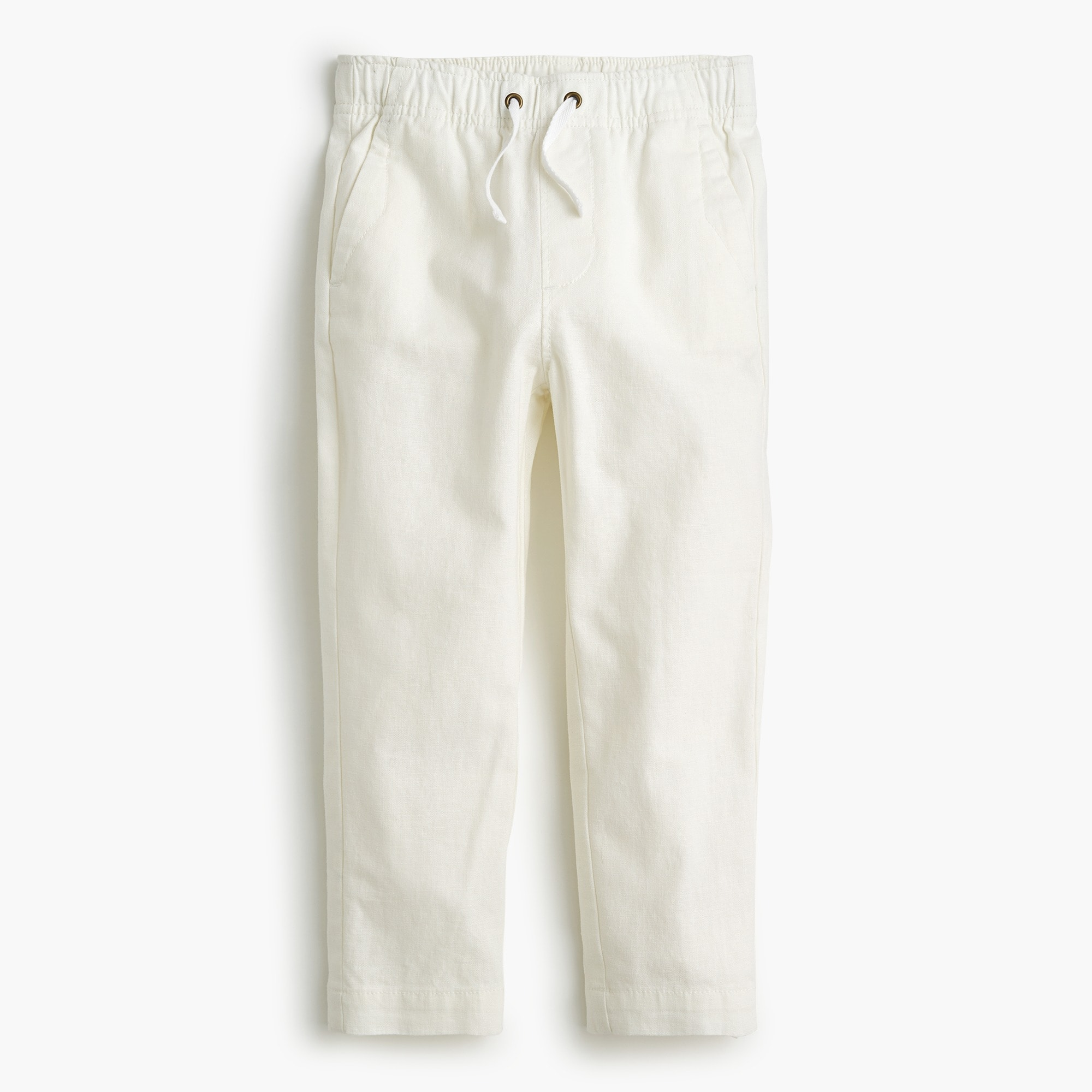 Boys' pull-on pant in linen boy pants c