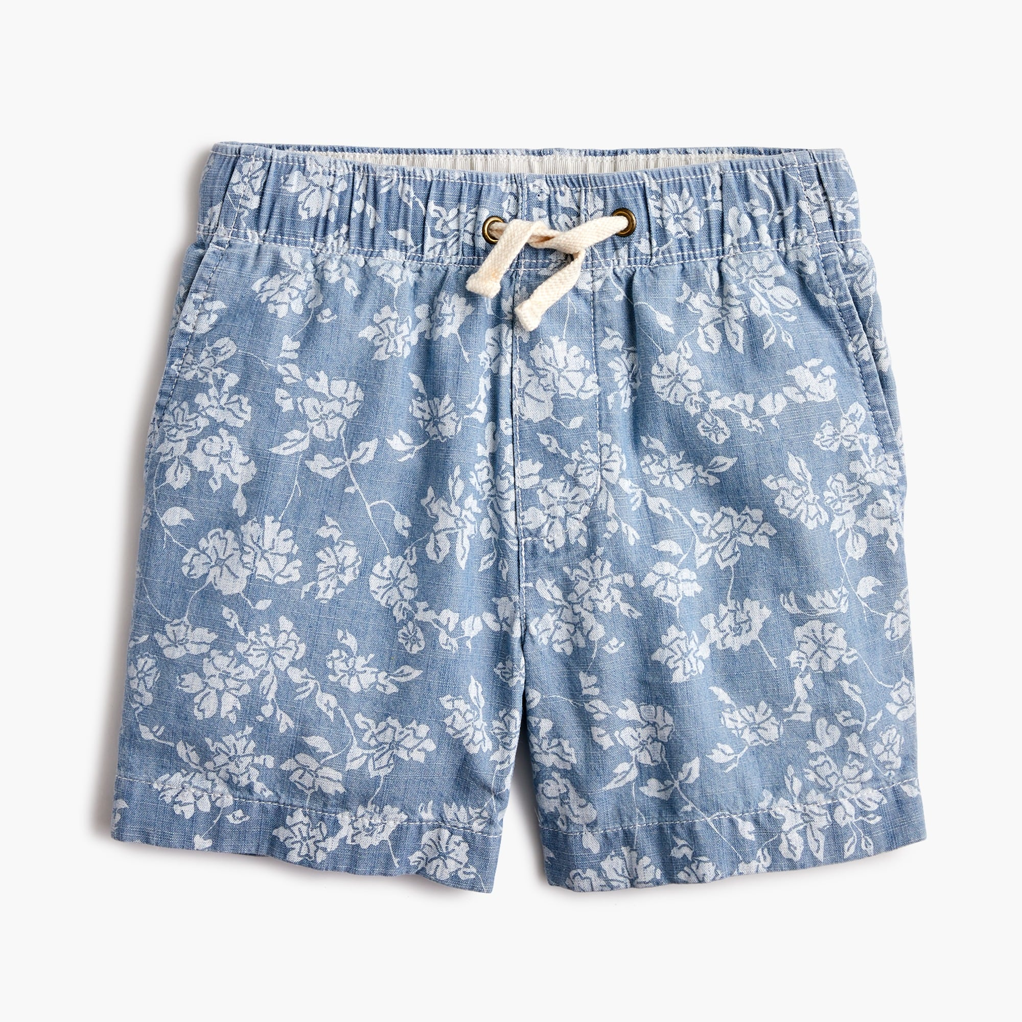 boys Boys' dock short in floral chambray