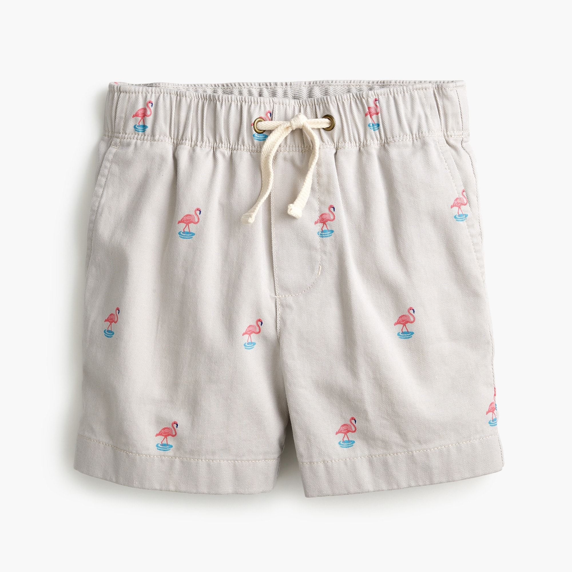 Boys' Dock critter short in flamingo