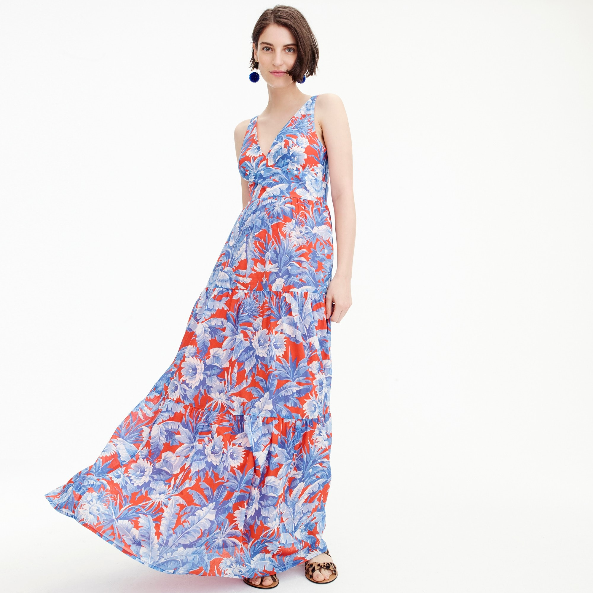V-neck maxi dress in Ratti® Rio floral women new arrivals c