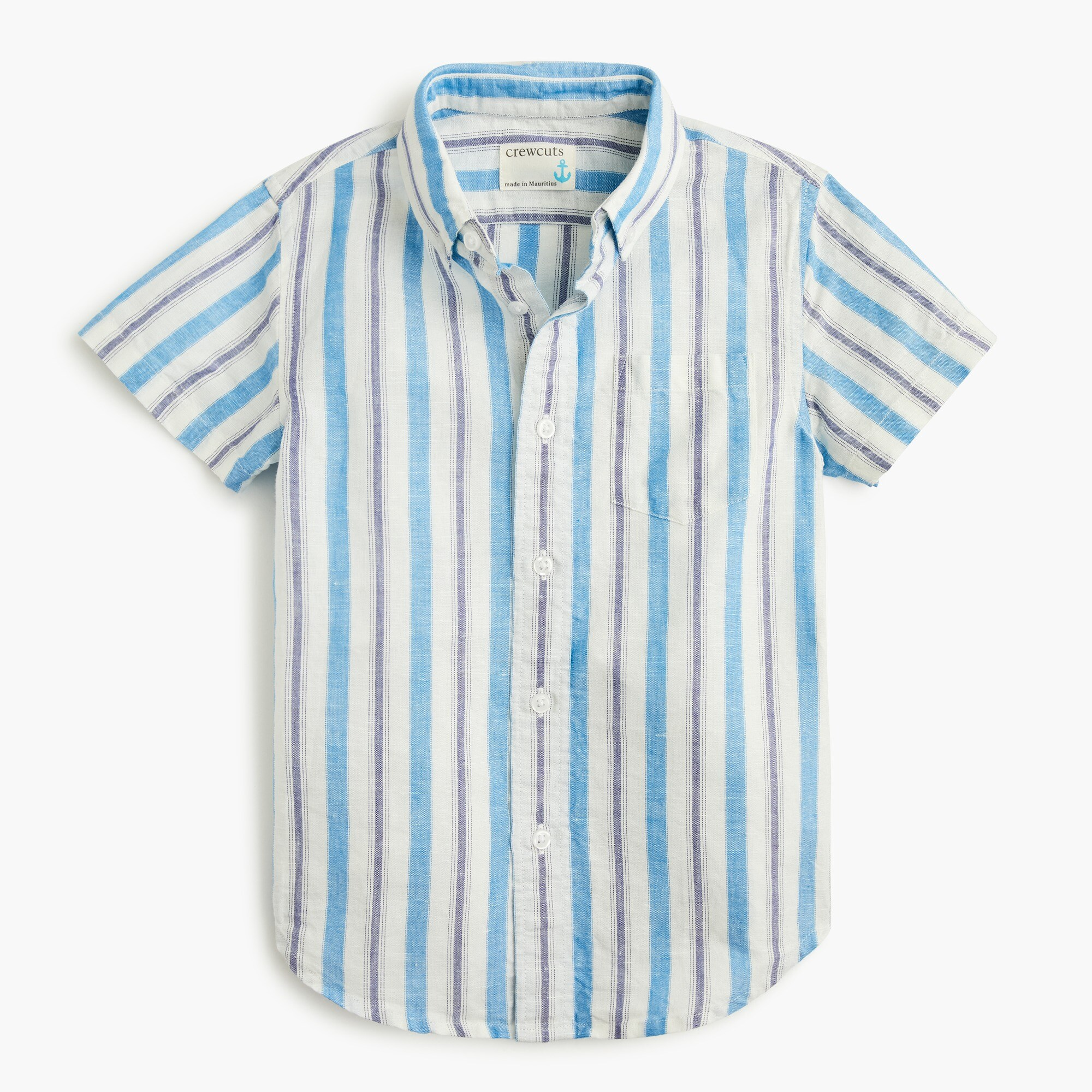 Image 2 for Boys' short-sleeve shirt in stripes