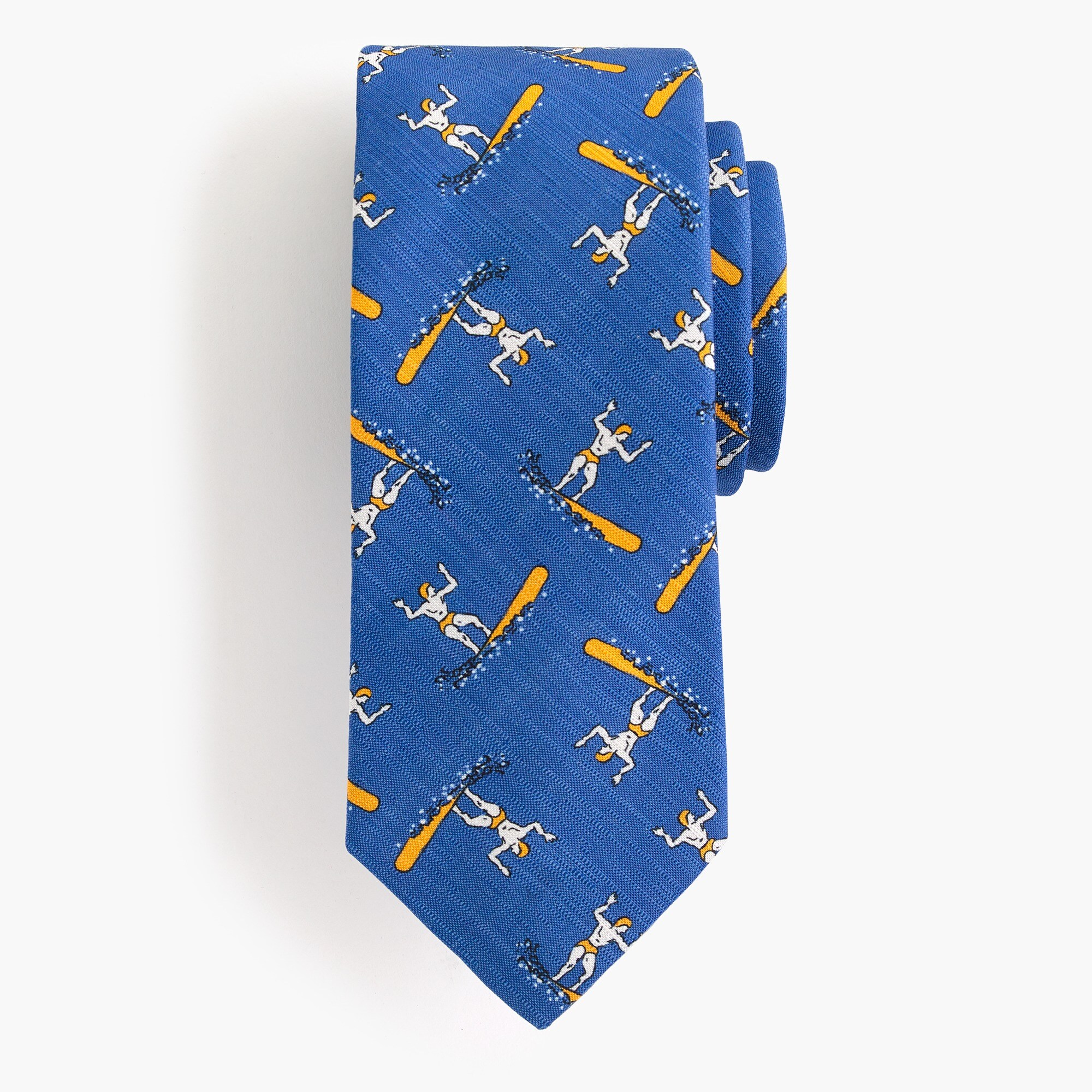 mens Drake's® silk-cotton tie in blue