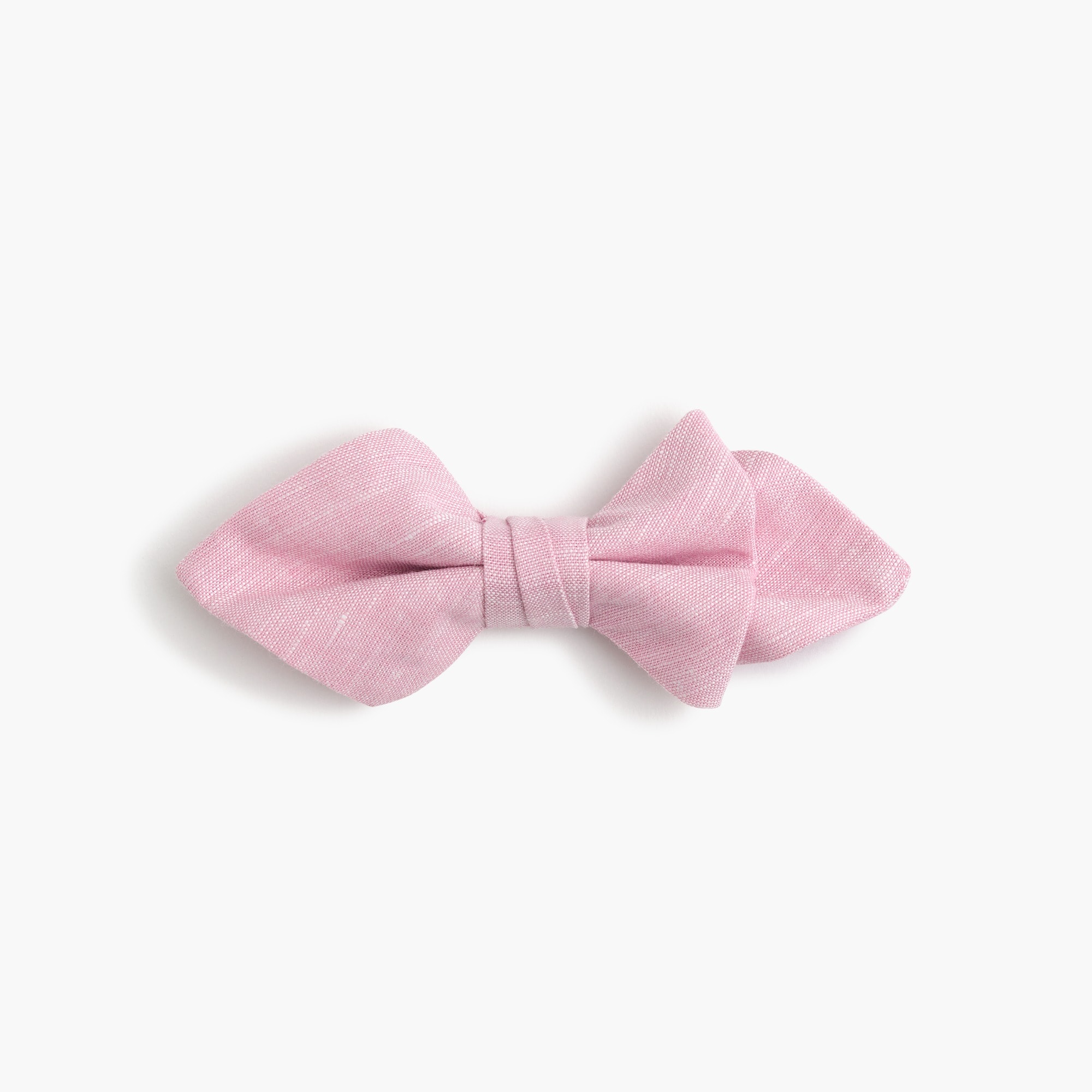 Boys' cotton-linen bow tie in pink boy accessories c