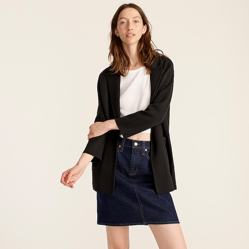 j.crew: sophie open-front sweater-blazer for women, right side, view zoomed