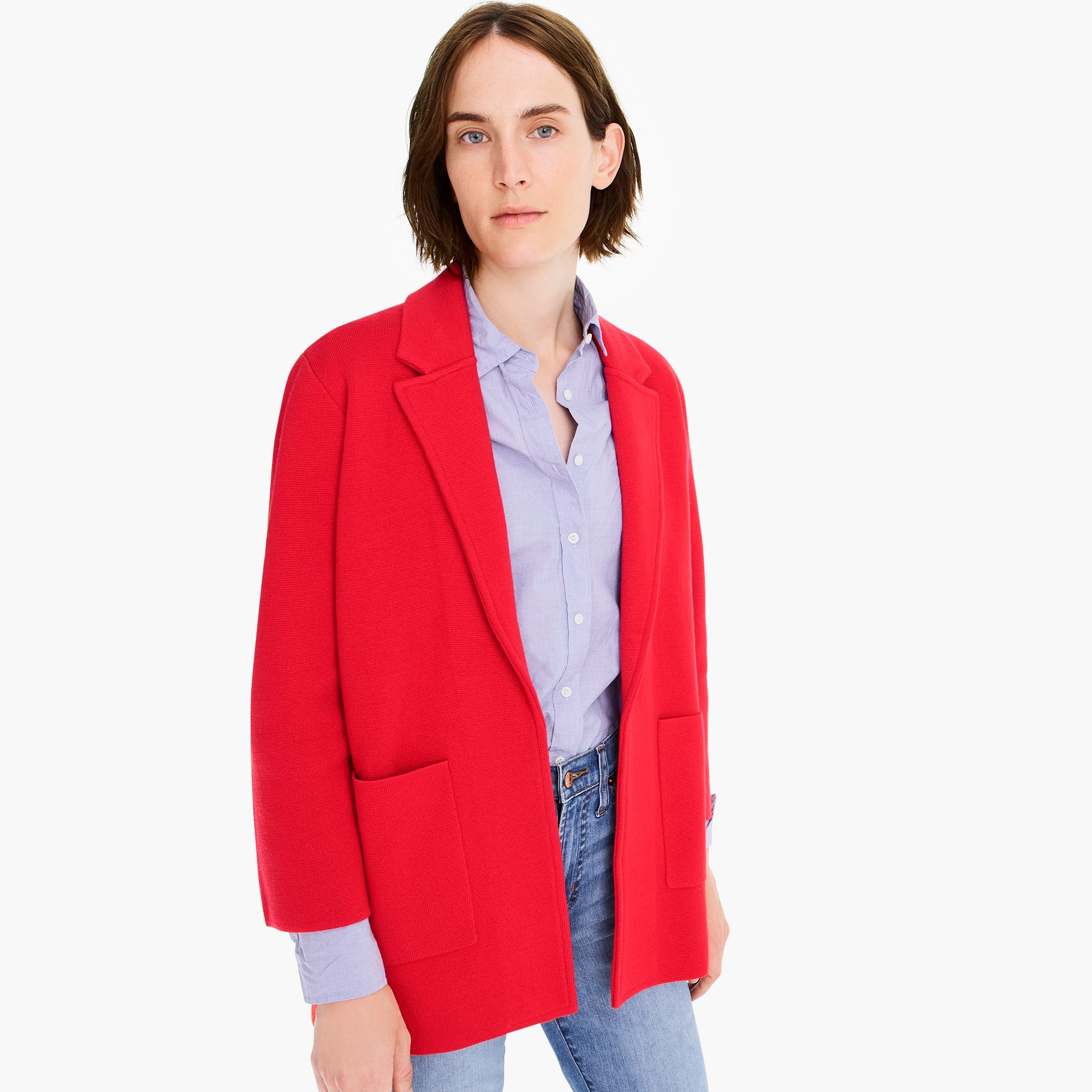 womens Sophie open-front sweater blazer