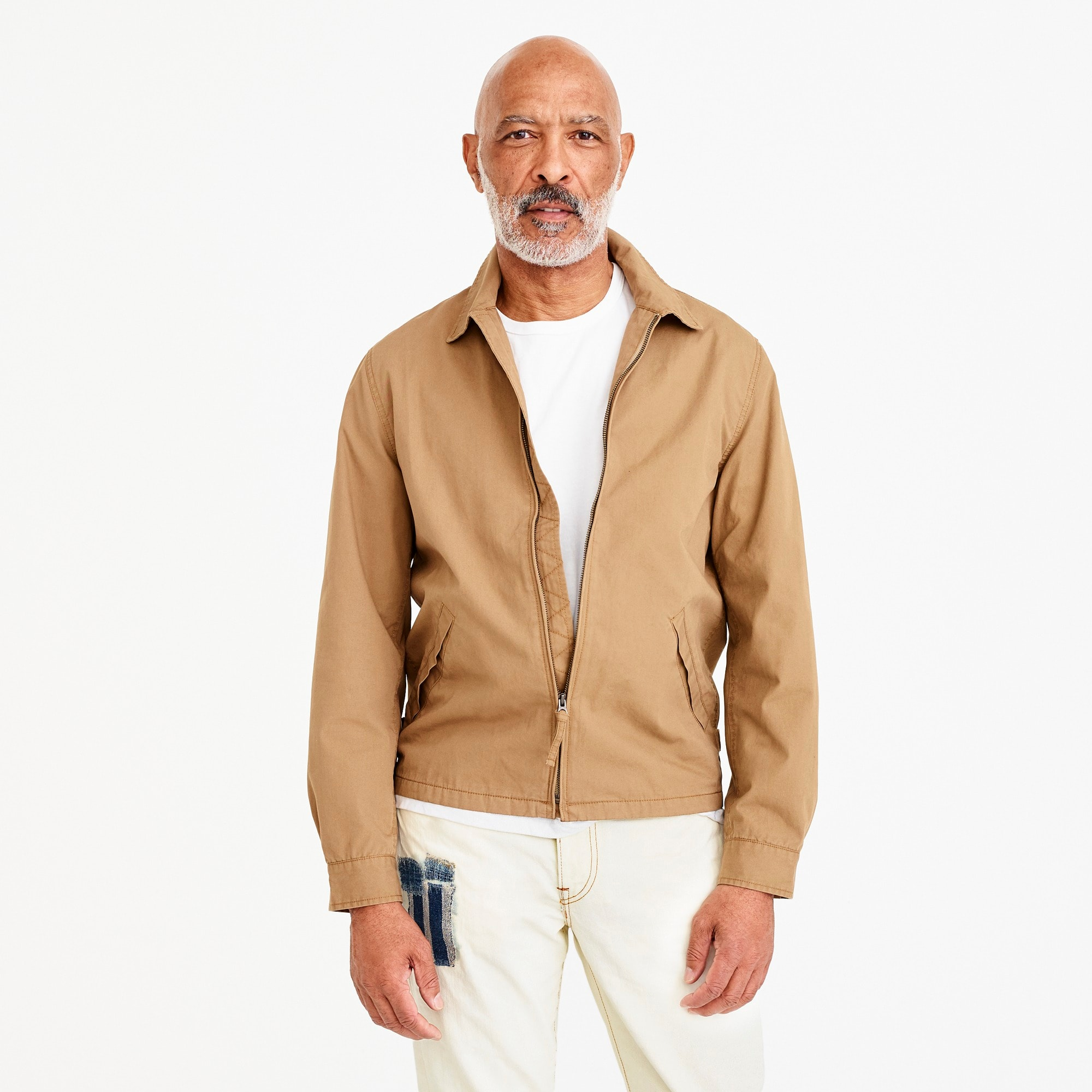 Point-collar cotton jacket