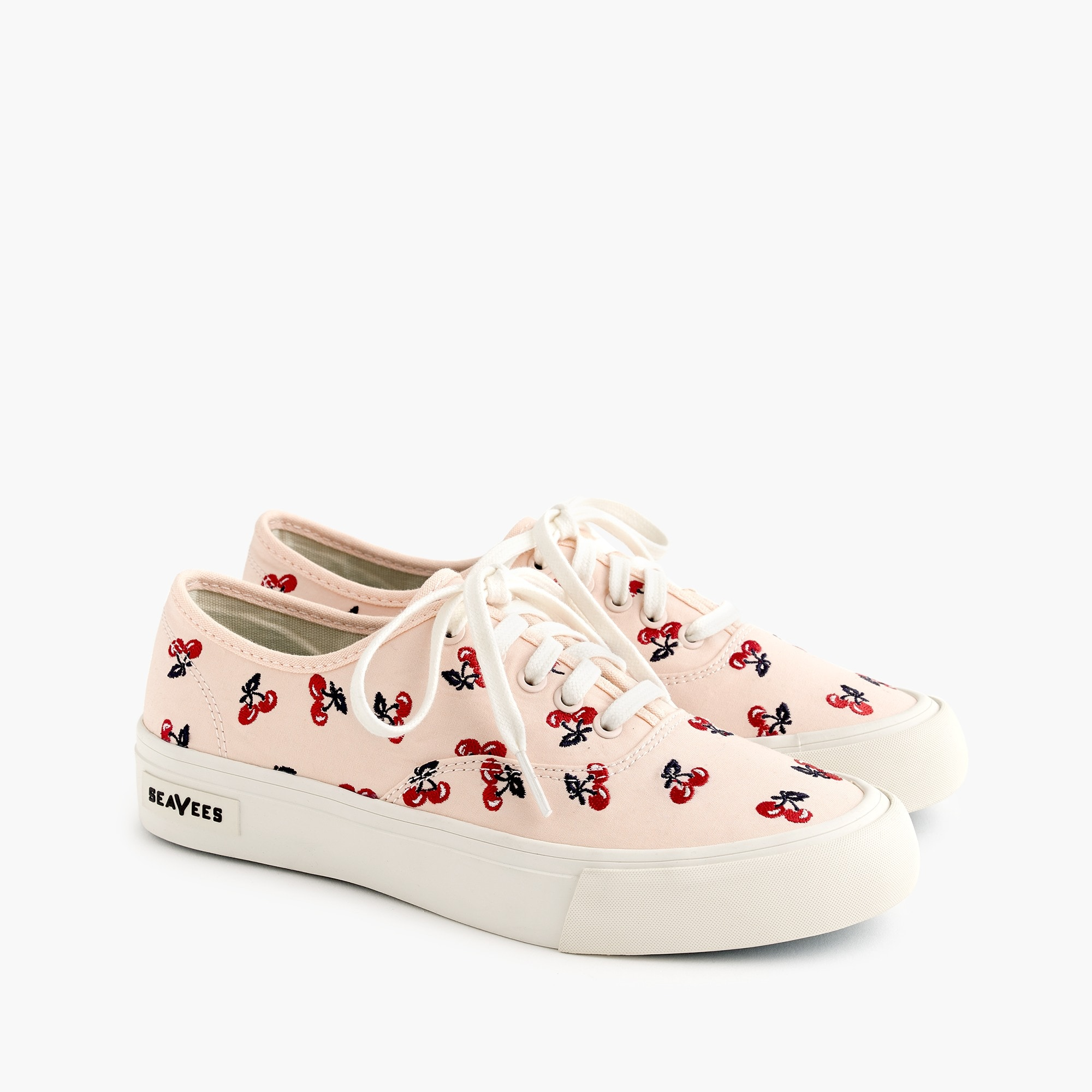 womens SeaVees® for J.Crew Legend sneakers with embroidered fruit