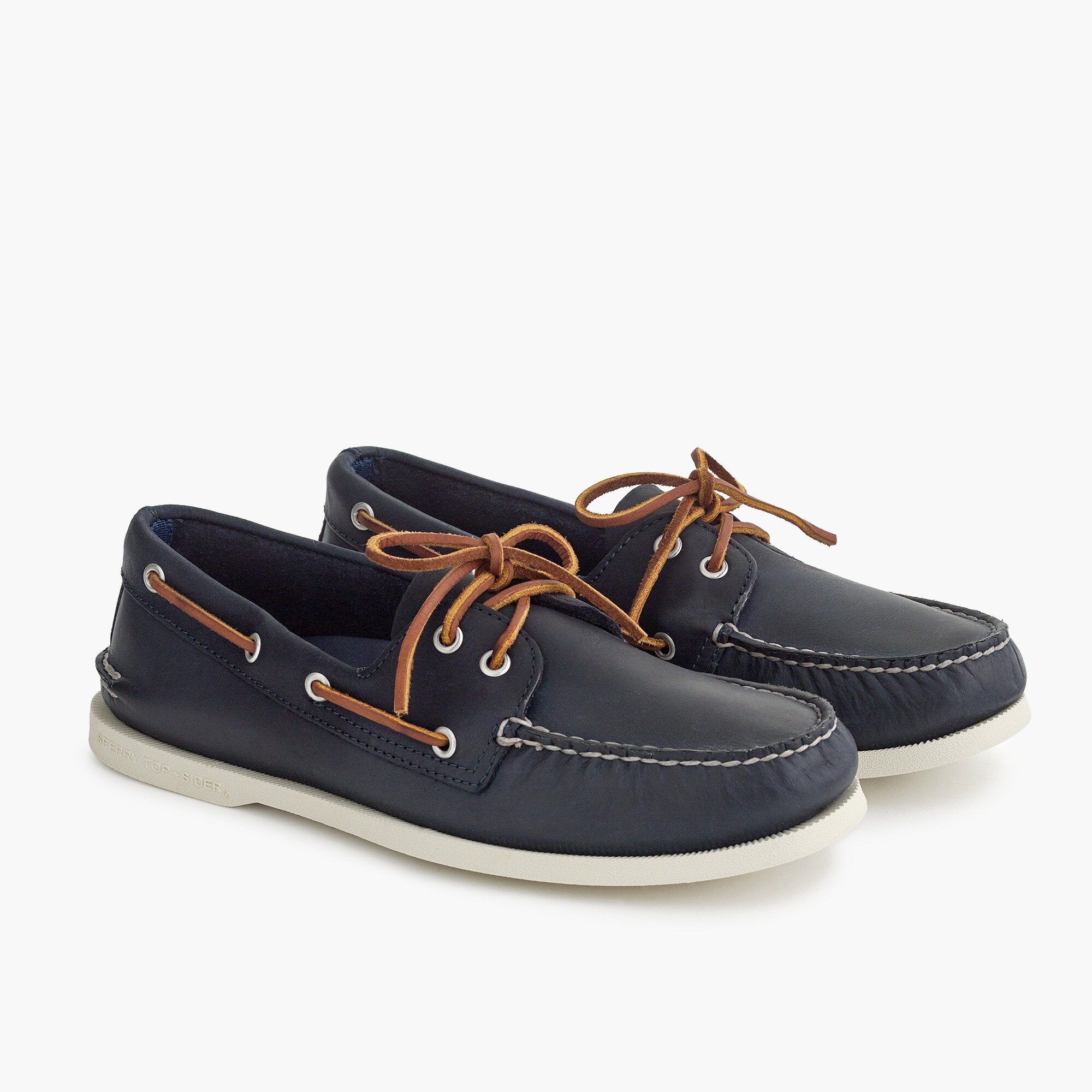 mens Sperry® for J.Crew Authentic Original 2-eye boat shoes in leather