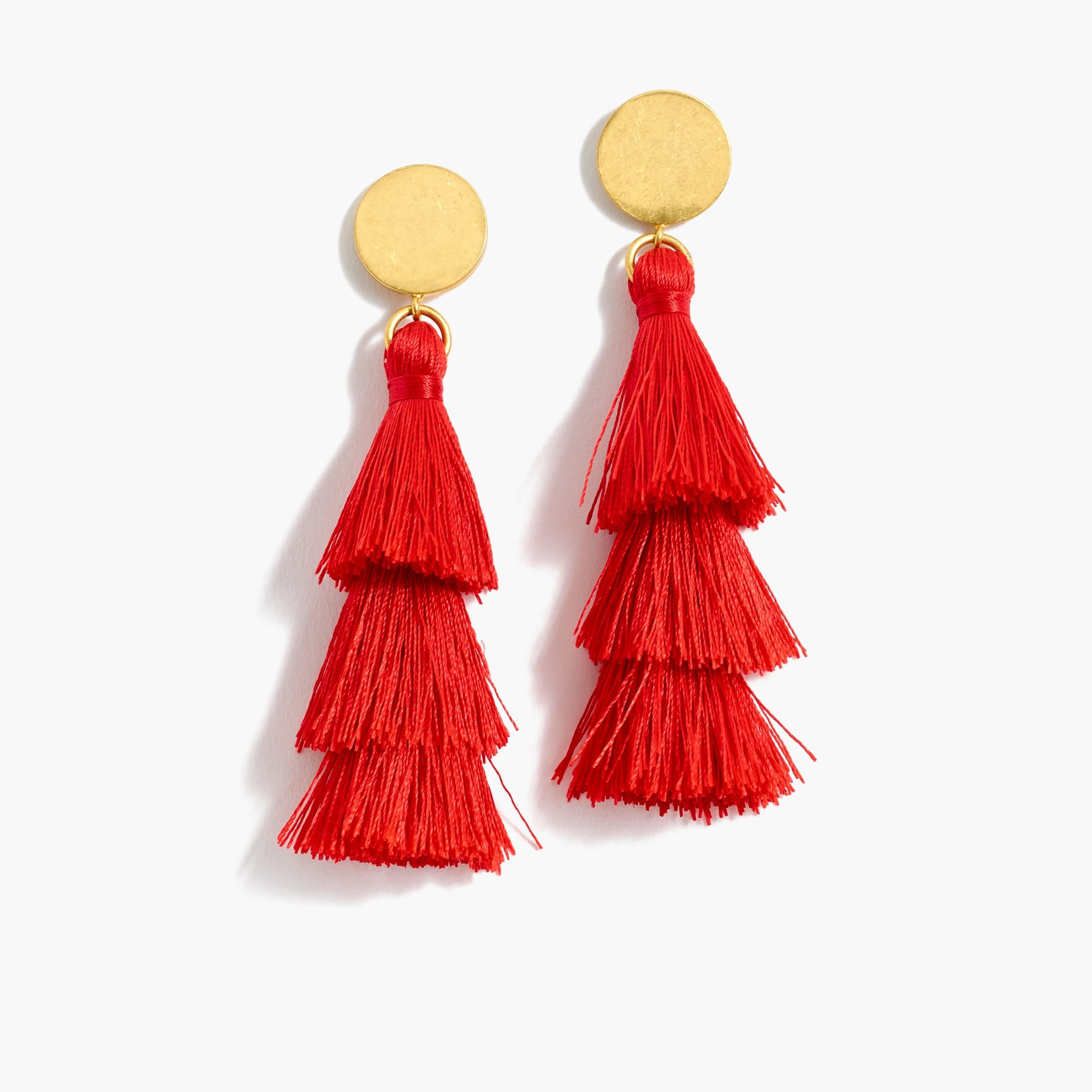 women's tiered tassel earrings - women's earrings