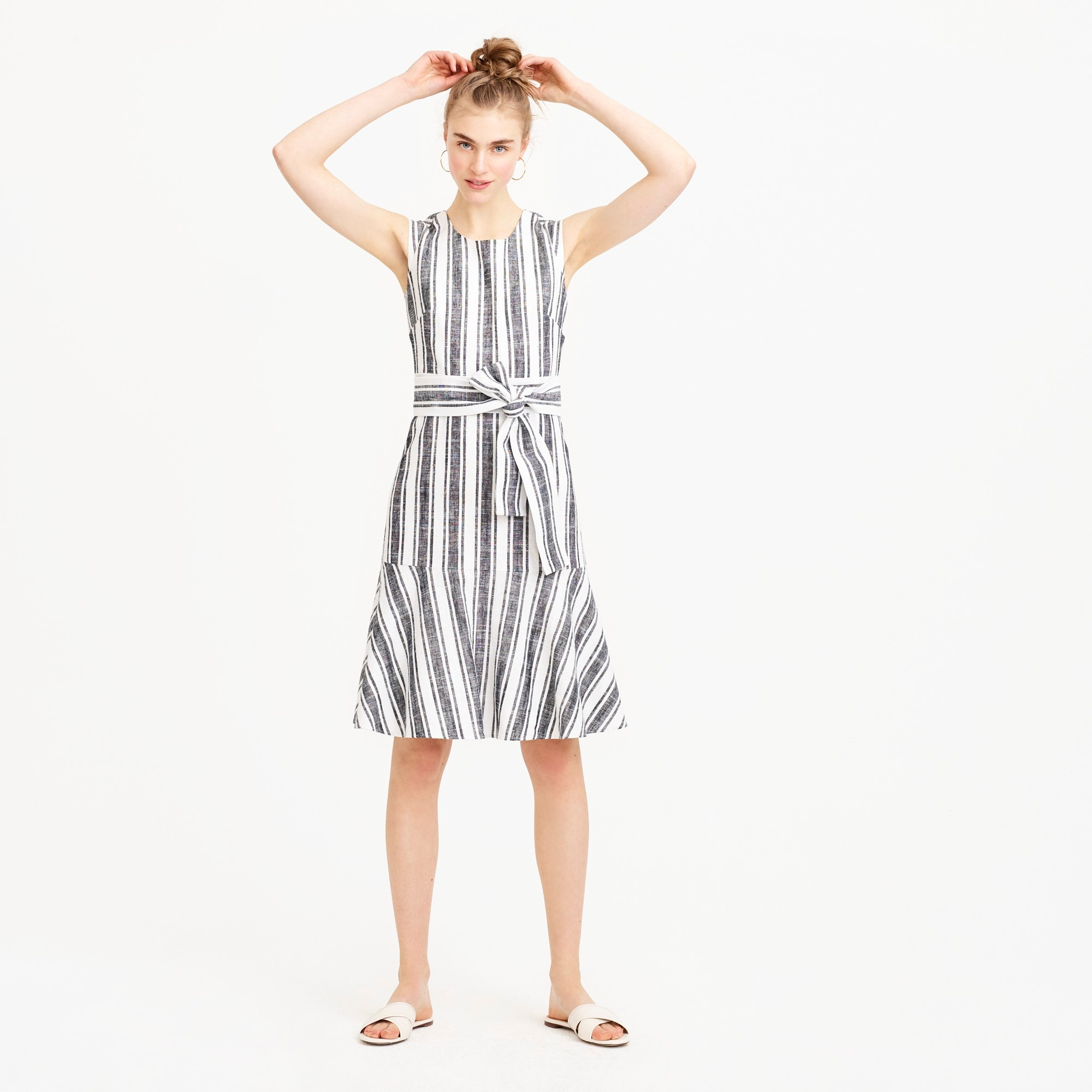Image 1 for Tall Belted dress in linen